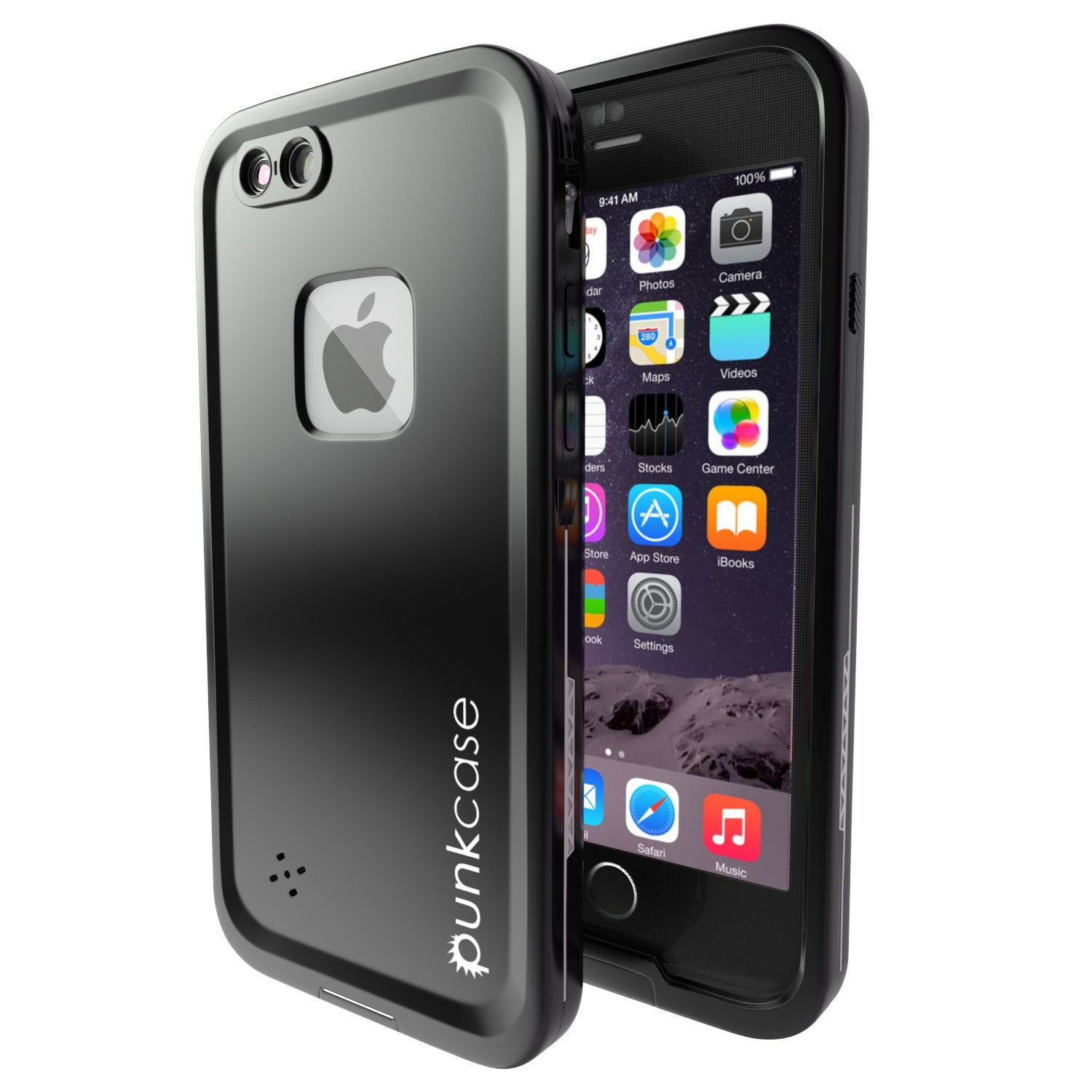 iPhone 6S/6 Waterproof Case, Punkcase SpikeStar Black | Thin Fit 6.6ft Underwater IP68 | Warranty