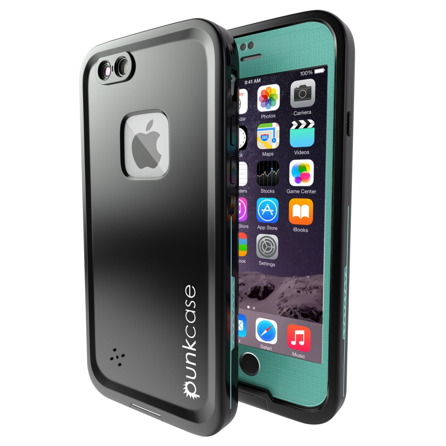 iPhone 6S/6 Waterproof Case, Punkcase SpikeStar Teal | Thin Fit 6.6ft Underwater IP68 | Warranty