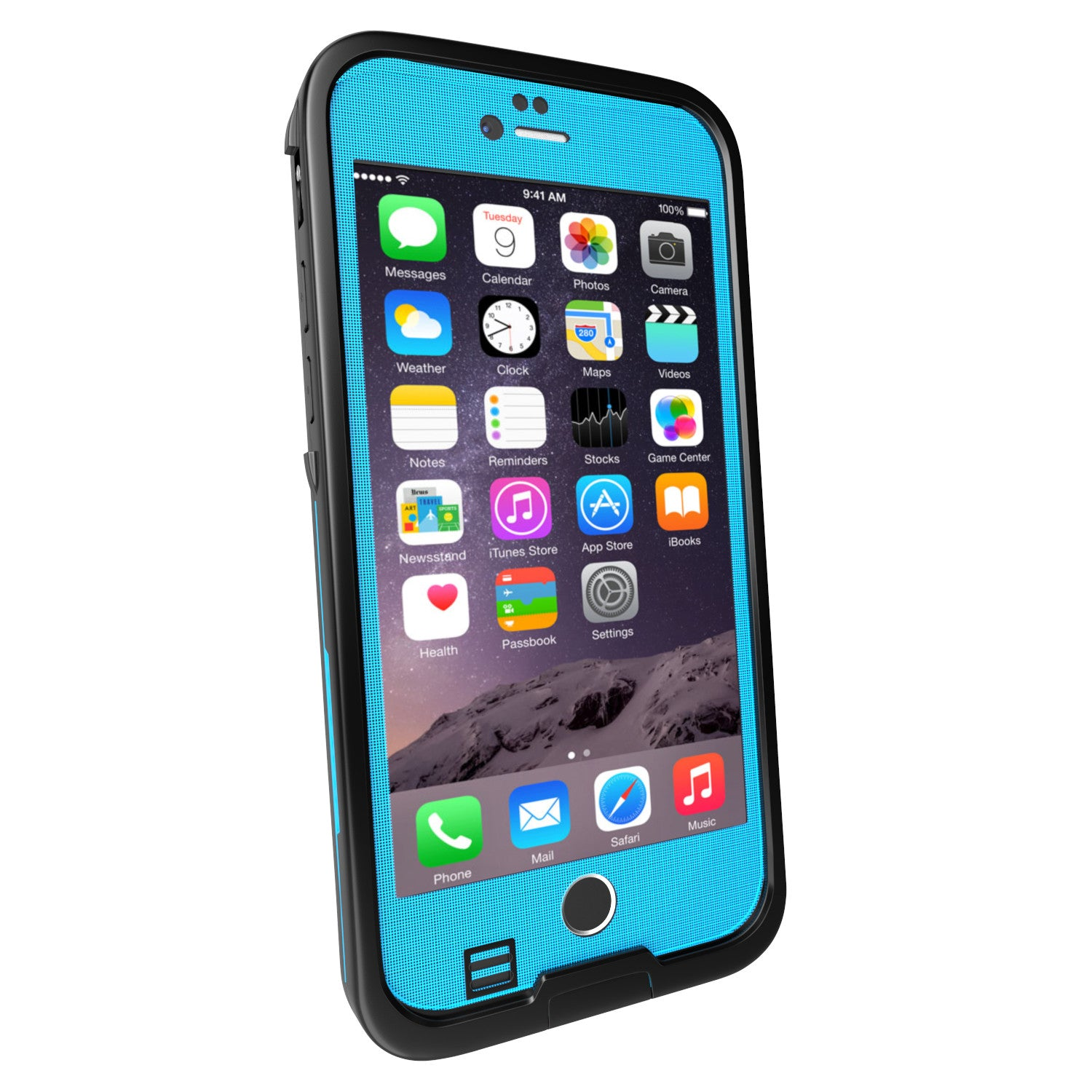 iPhone 6S/6 Waterproof Case Punkcase SpikeStar Light blue, Thin Fit 6.6ft Underwater IP68 | Warranty