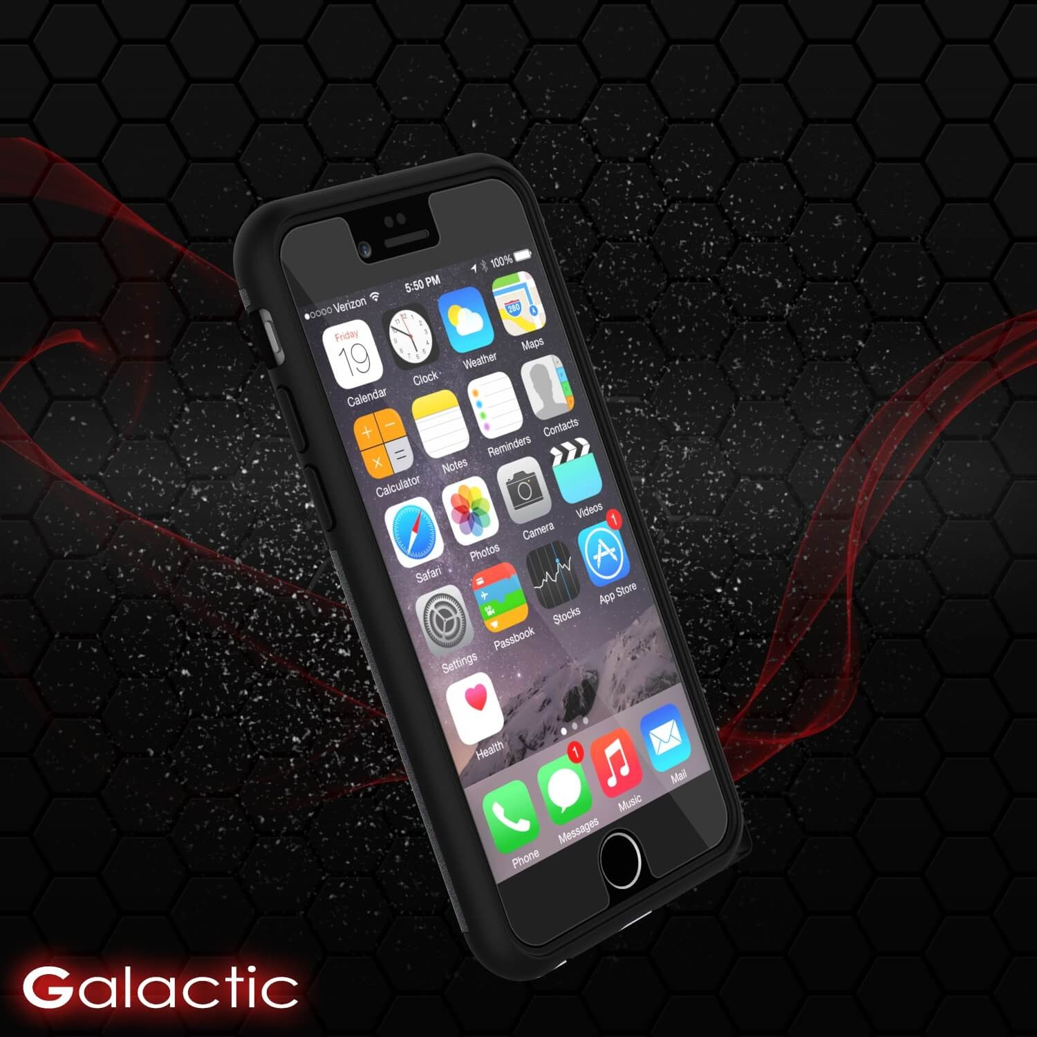 iPhone 6s Plus/6 Plus  Case PunkCase Galactic Black Slim w/ Tempered Glass | Lifetime Warranty