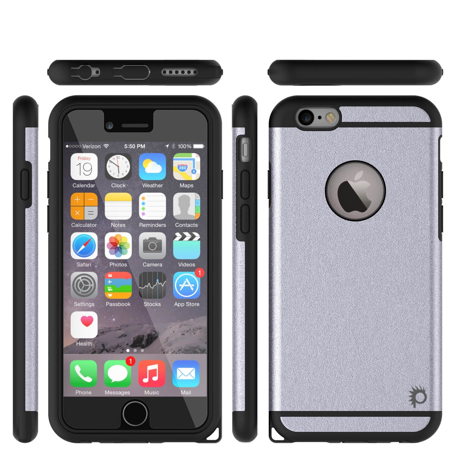 iPhone 6s Plus/6 Plus  Case PunkCase Galactic Silver Slim w/ Tempered Glass | Lifetime Warranty