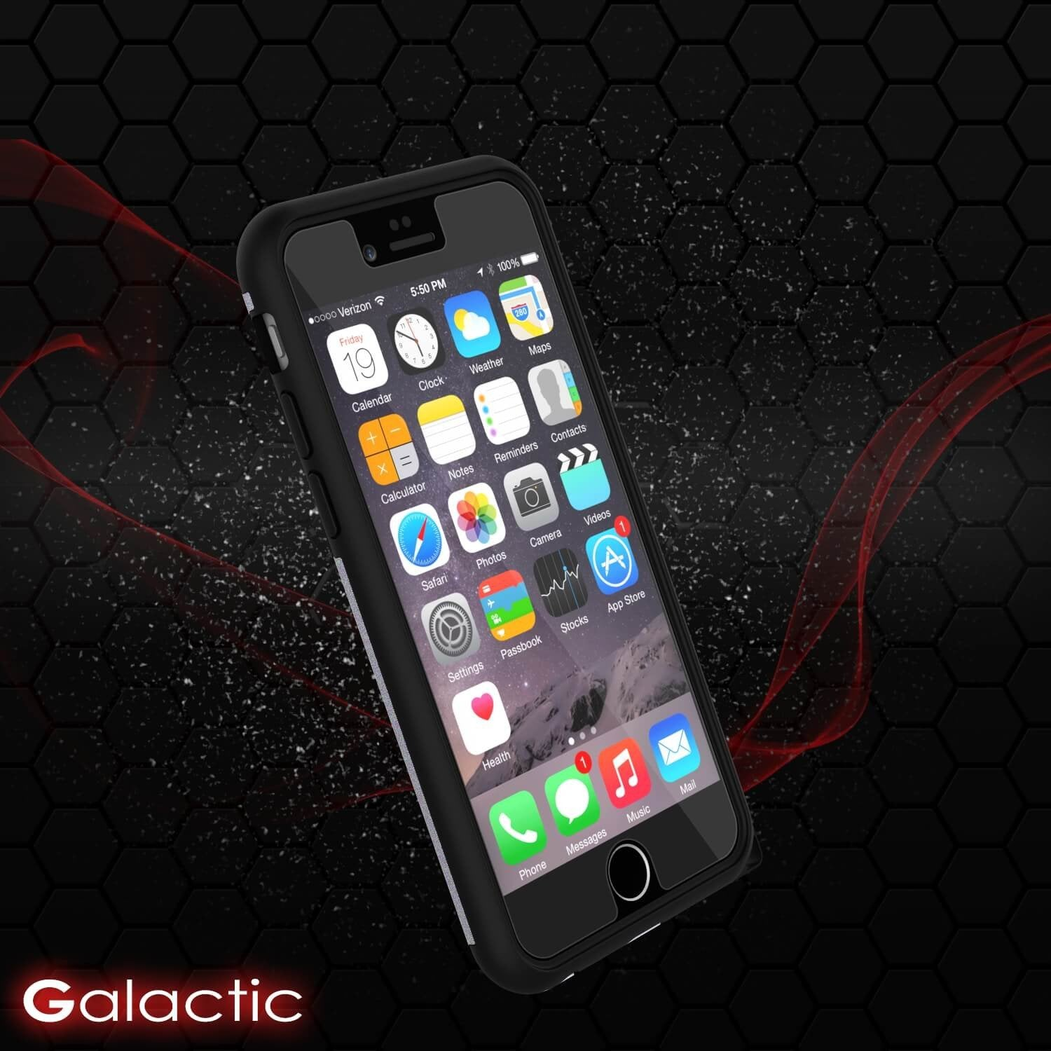 iPhone 5s/5/SE Case PunkCase Galactic SIlver Series Slim w/ Tempered Glass | Lifetime Warranty