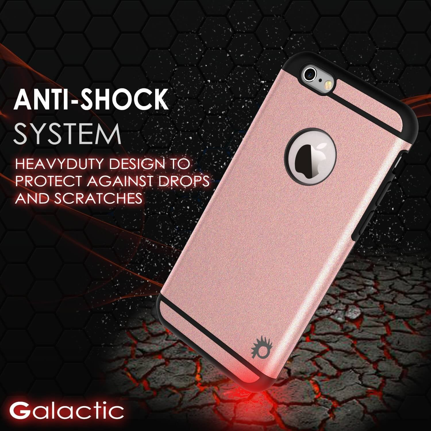 iPhone 5s/5 Case PunkCase Galactic black Series Slim w/ Tempered Glass | Lifetime Warranty