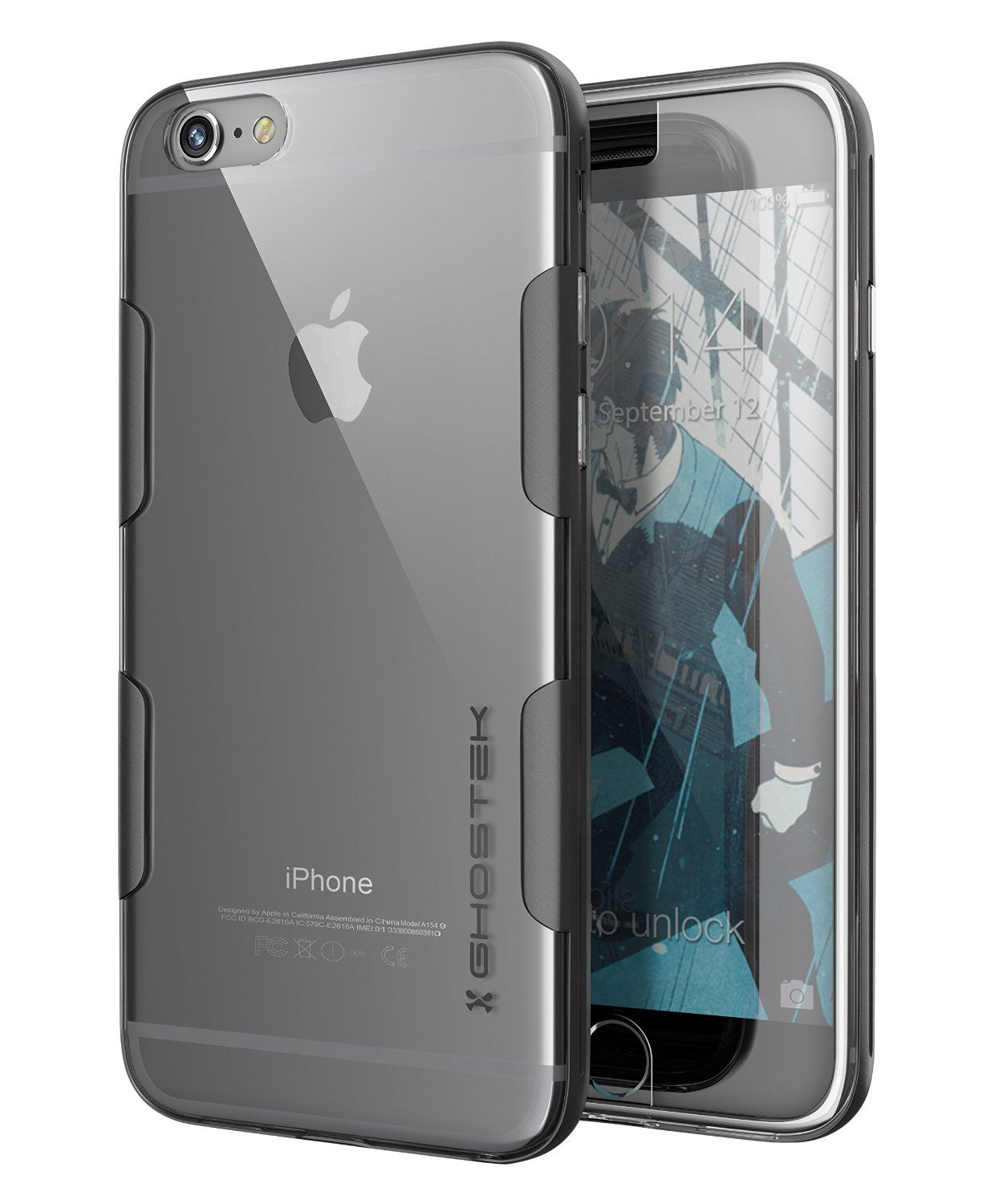 iPhone 6s Plus Case Space Grey Ghostek Cloak, Slim Protective w/ Tempered Glass | Lifetime Warranty
