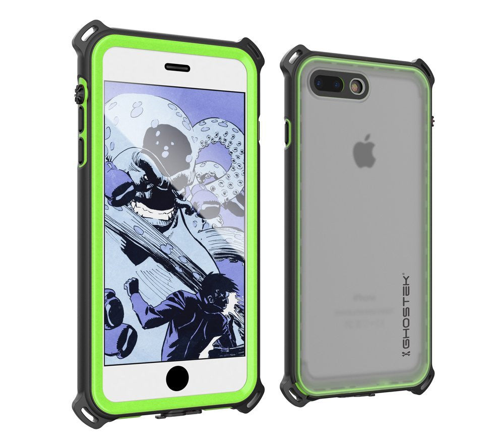 iPhone 7 Plus Waterproof Case, Ghostek Nautical Series for iPhone 7 Plus | Slim Underwater Protection | Adventure Duty | Swimming (Green)