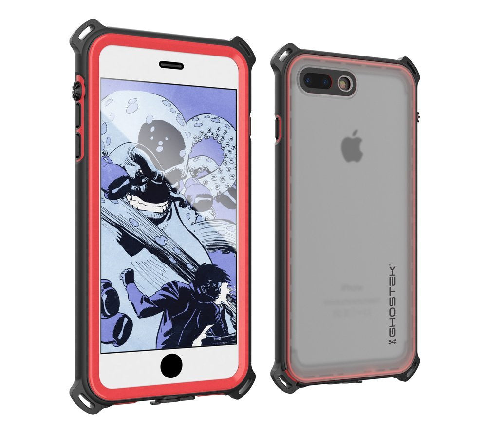 huge discount 7cbae 6df0f iPhone 7+ Plus Waterproof Case, Ghostek Nautical Series for iPhone 7+ Plus  | Slim Underwater Protection | Adventure Duty | Swimming (Red)