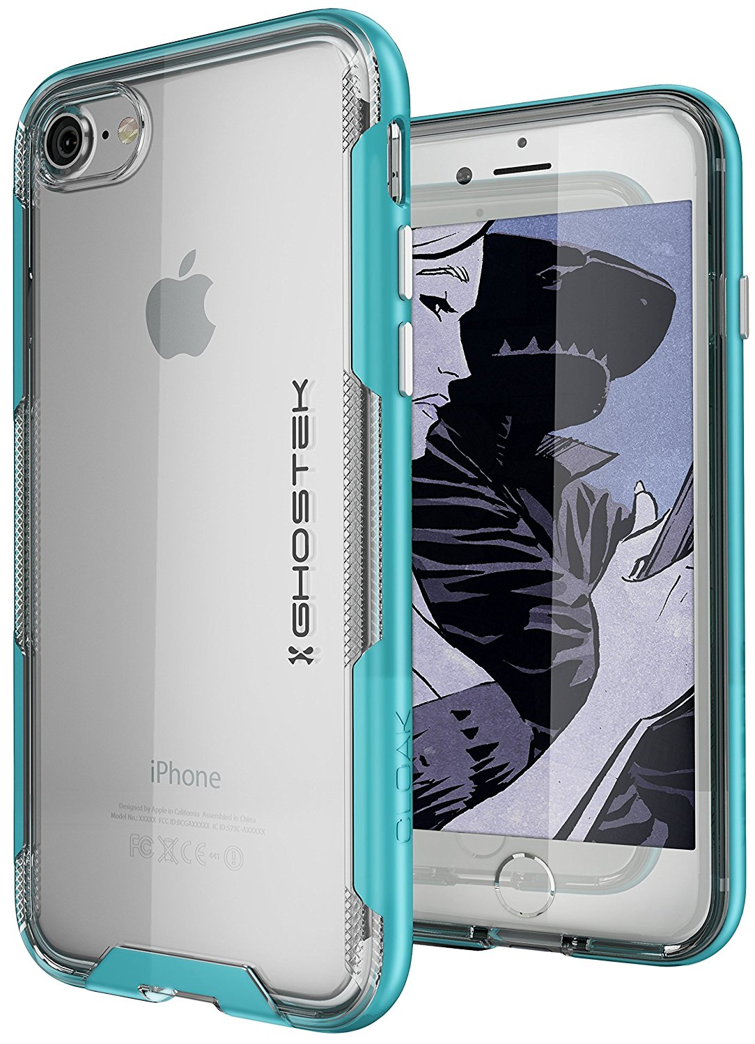 iPhone 7 Case, Ghostek Cloak 3 Series Case for iPhone 7 Case Clear Protective Case [TEAL]