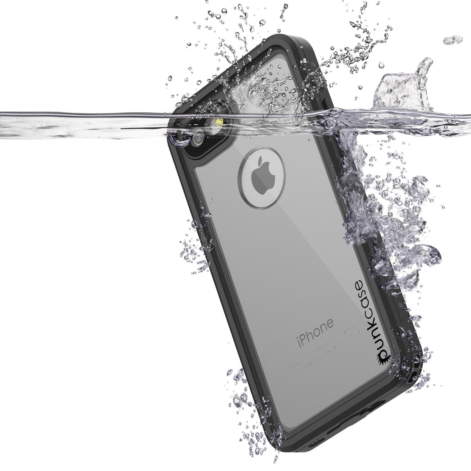 iPhone 8 Waterproof Case, Punkcase [Clear] [StudStar Series] [Slim Fit] [IP68 Certified][Dirtproof] [Snowproof]
