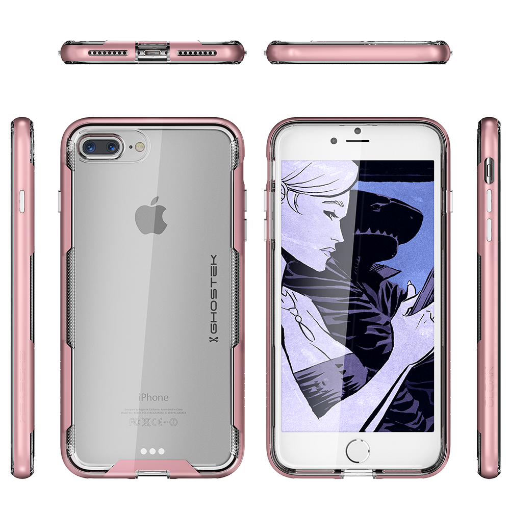 iPhone 7+ Plus Case, Ghostek Cloak 3 Series  for iPhone 7+ Plus  Case [ROSE PINK]