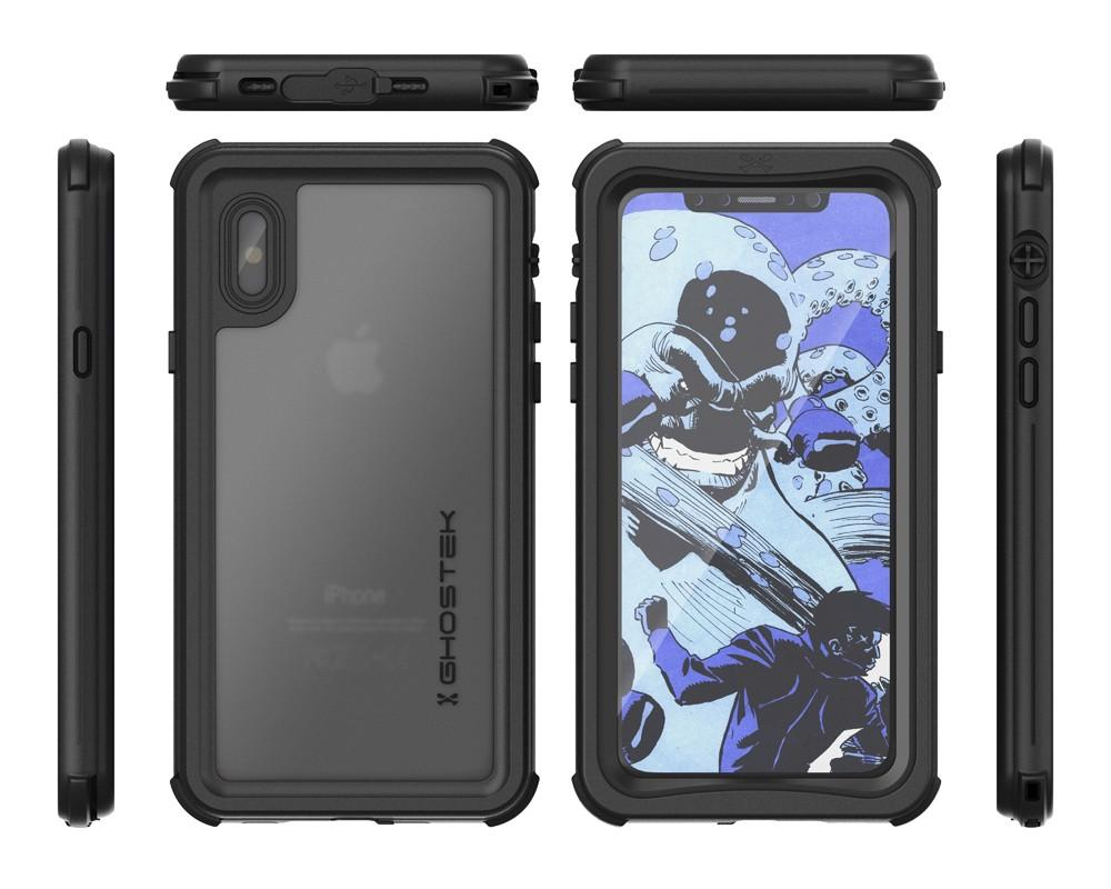 iPhone X  Case ,Ghostek Nautical Series  for iPhone X Rugged Heavy Duty Case |  BLACK