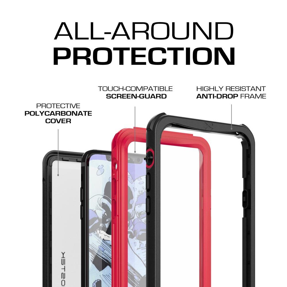 iPhone X  Case ,Ghostek Nautical Series  for iPhone X Rugged Heavy Duty Case |  RED