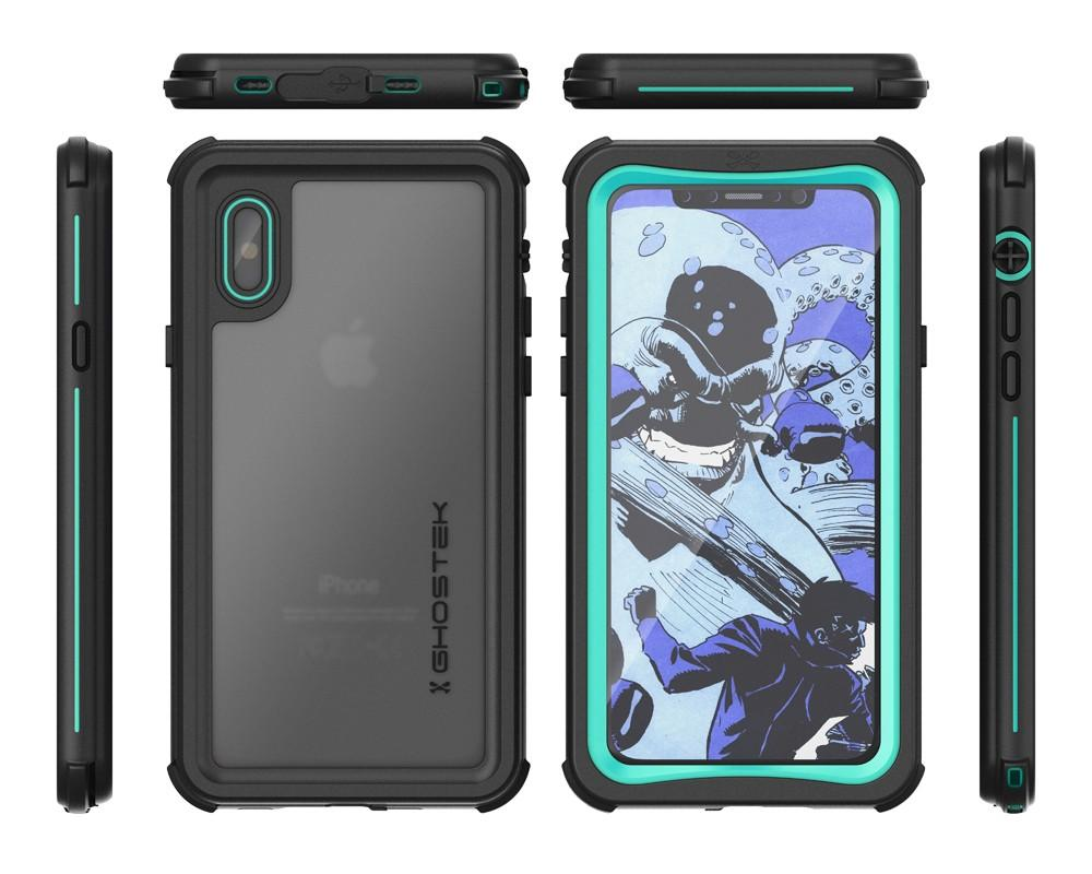 iPhone X  Case ,Ghostek Nautical Series  for iPhone X Rugged Heavy Duty Case |  TEAL