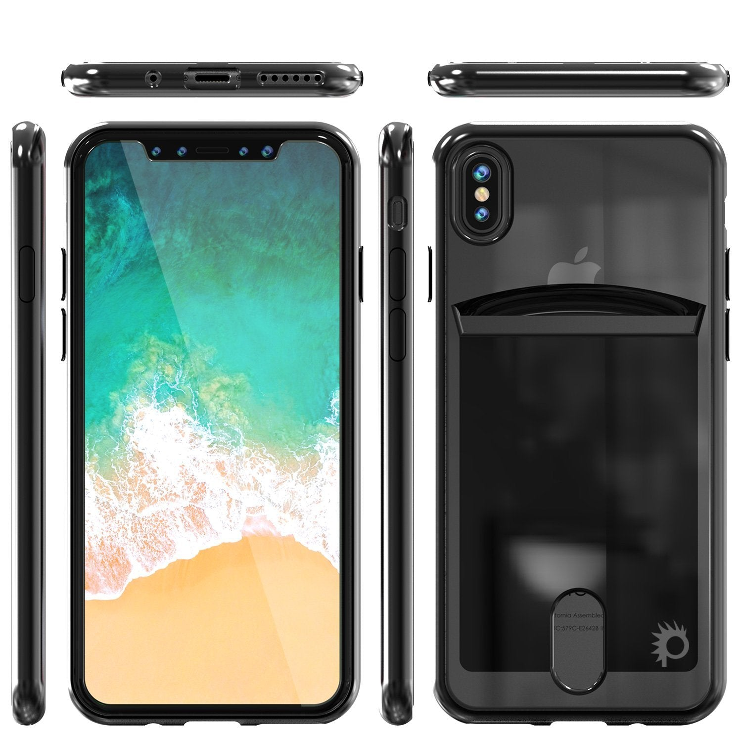 iPhone X Case, PUNKcase [LUCID Series] Slim Fit Protective Dual Layer Armor Cover [Black]