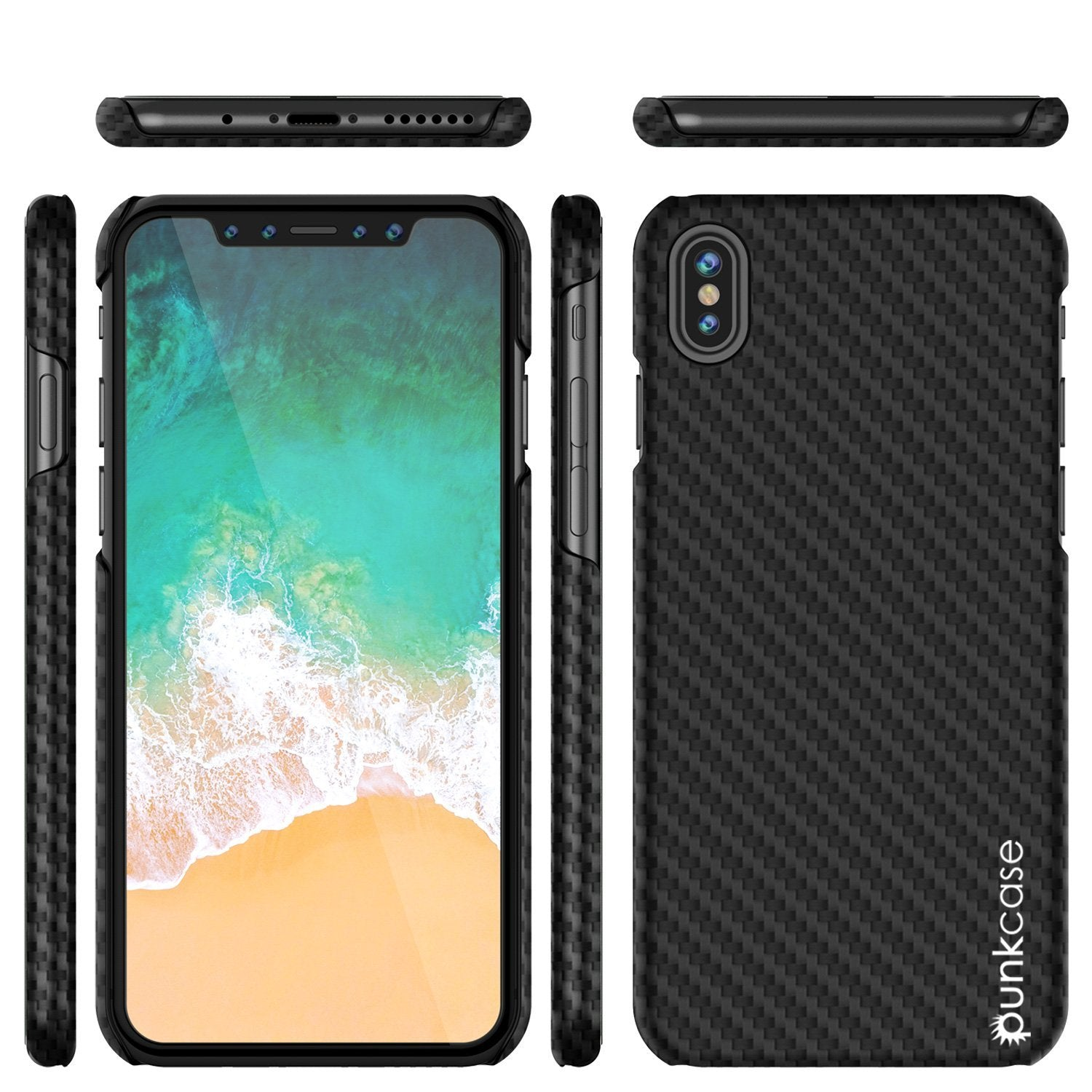 quality design 5afa6 46850 iPhone X Case, Punkcase CarbonShield, Heavy Duty & Ultra Thin 2 Piece