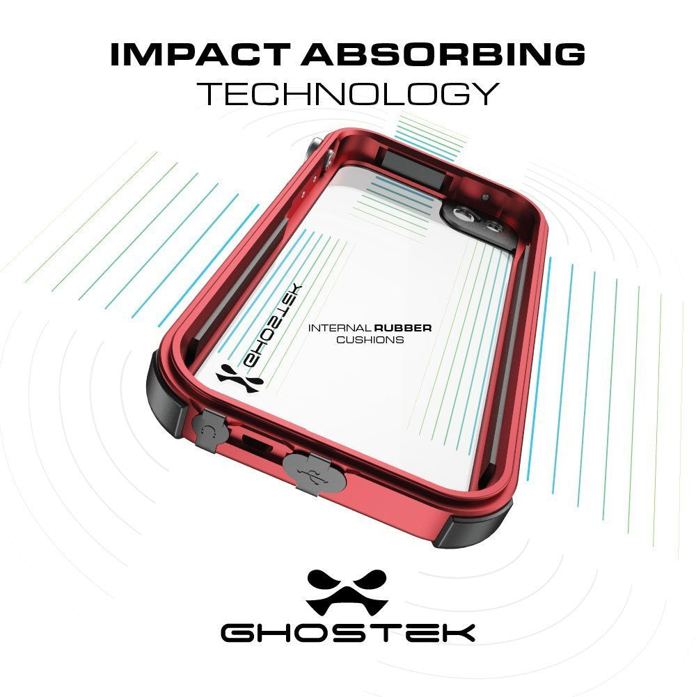 iPhone 7 Waterproof Case, Ghostek® Atomic 3.0 Silver Series | Underwater | Touch-ID