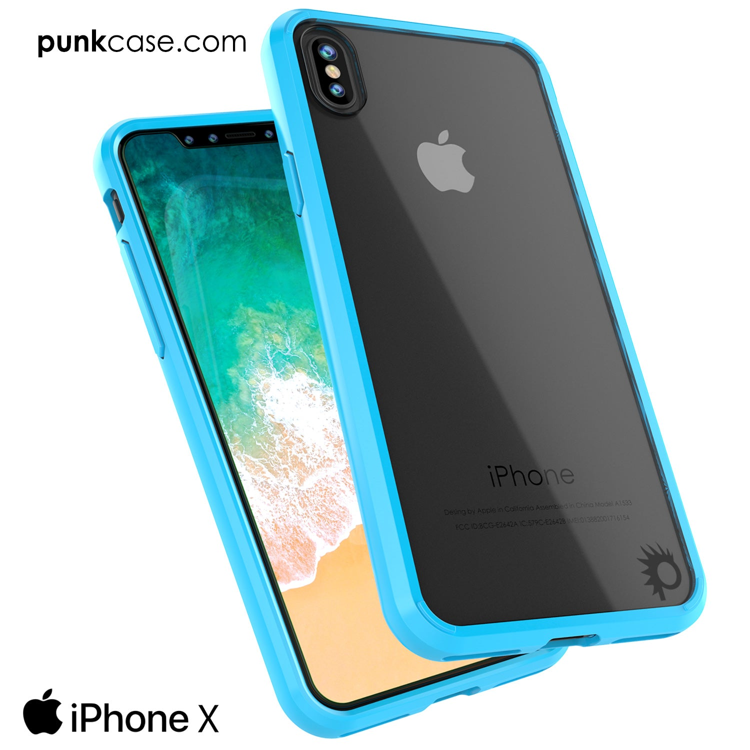 official photos 48567 6dbf2 iPhone X Case, PUNKcase [LUCID 2.0 Series] [Slim Fit] Armor Cover W/In