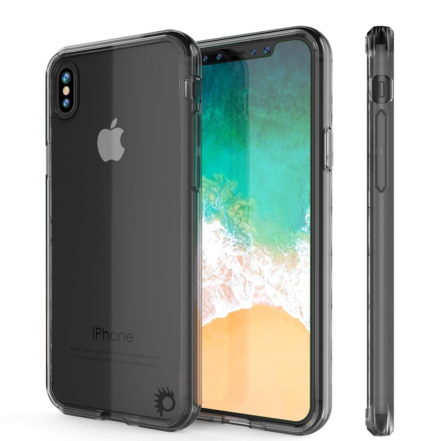 iPhone X Case, PUNKcase [LUCID 2.0 Series] [Slim Fit] Armor Cover W/Integrated Anti-Shock System [Crystal Black]