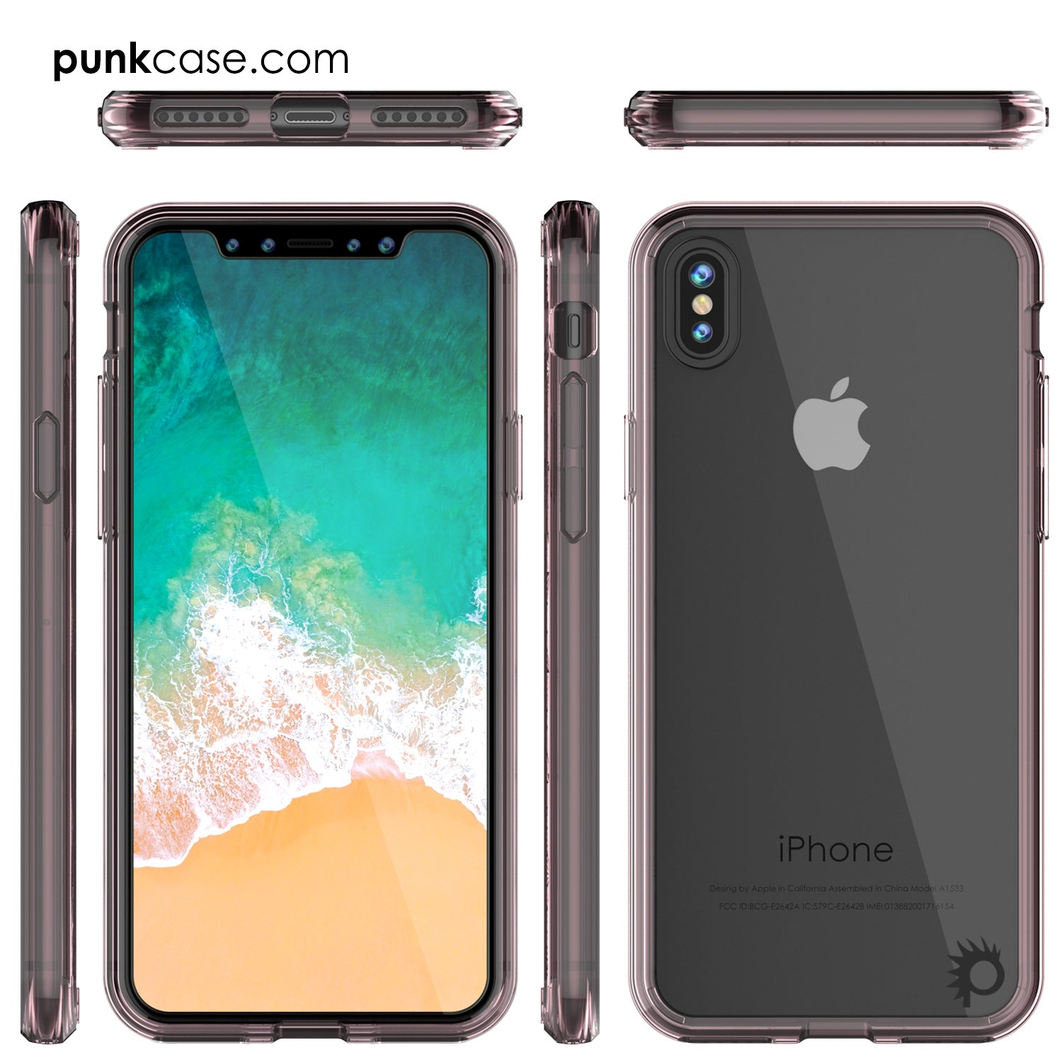 iPhone X Case, PUNKcase [LUCID 2.0 Series] [Slim Fit] Armor Cover W/Integrated Anti-Shock System [Crystal Pink]