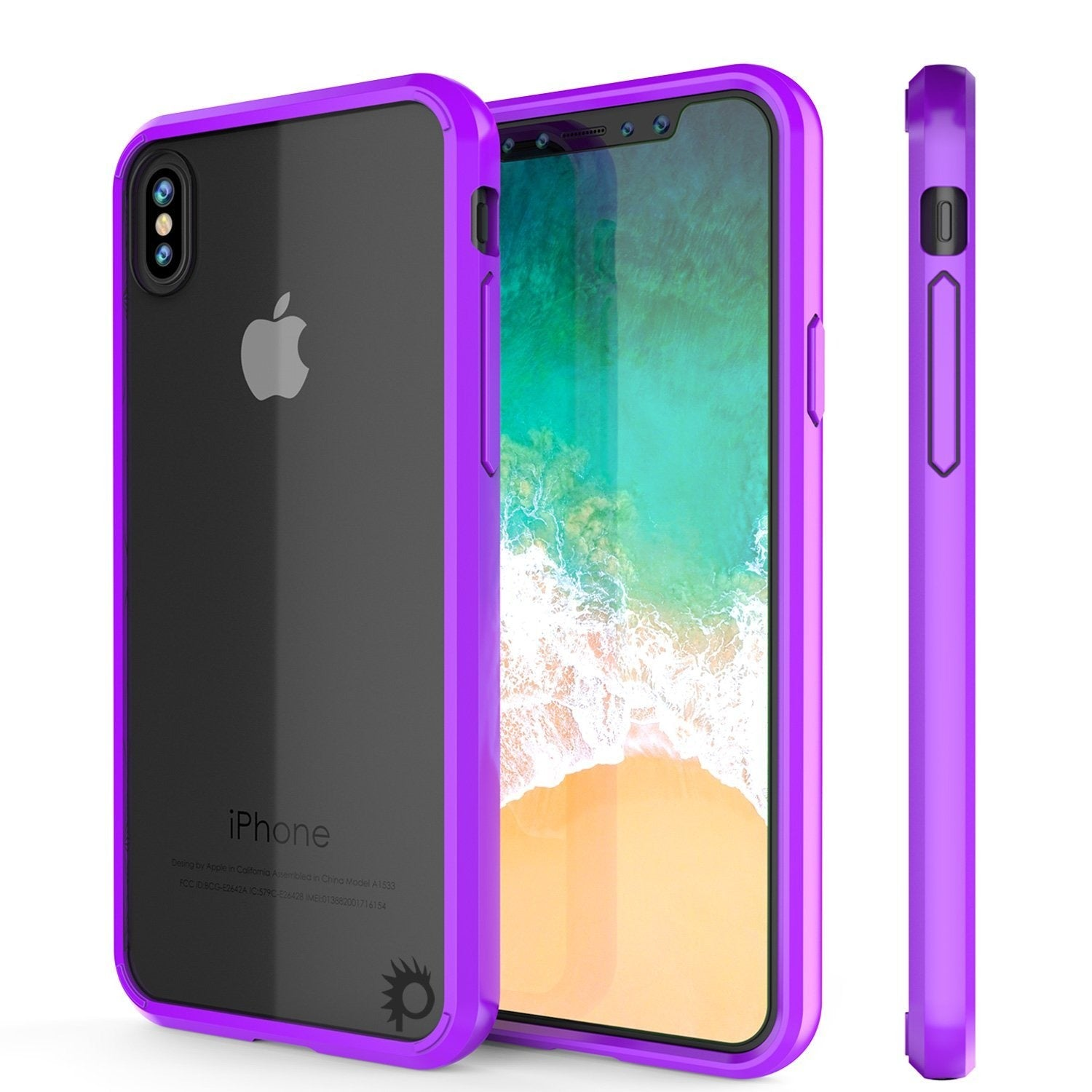 iPhone XR Case, PUNKcase [Lucid 2.0 Series] [Slim Fit] Armor Cover [Purple]
