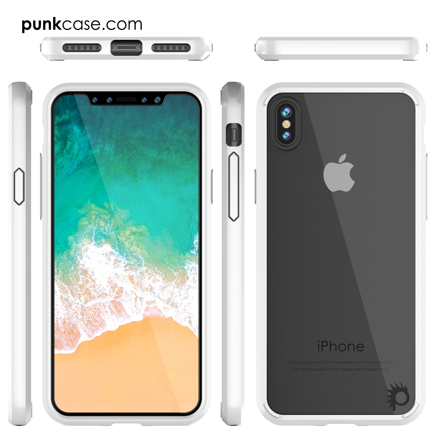 iPhone X Case, PUNKcase [LUCID 2.0 Series] [Slim Fit] Armor Cover W/Integrated Anti-Shock System [White]