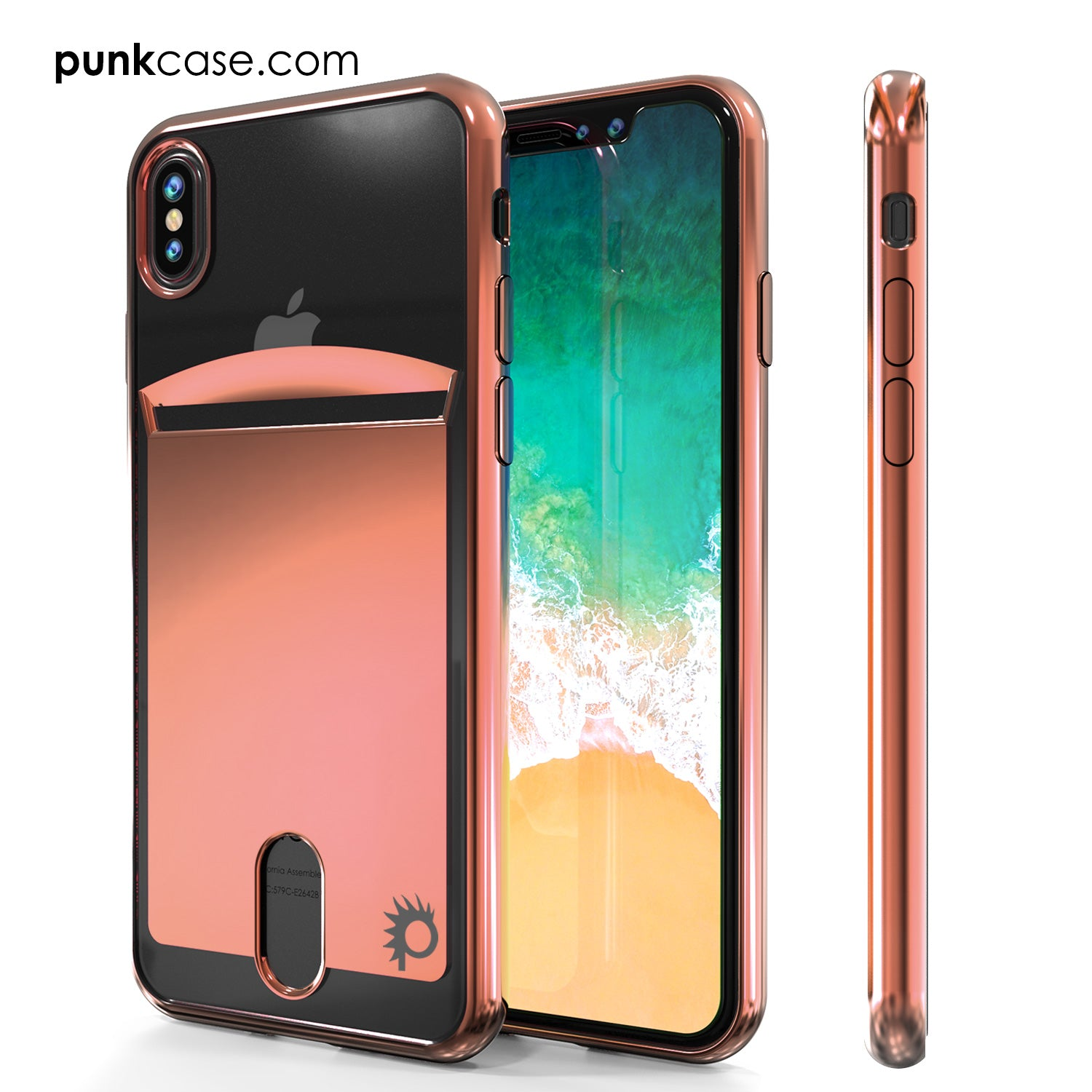 iPhone X Case, PUNKcase [LUCID Series] Slim Fit Protective Dual Layer Armor Cover [Rose Pink]