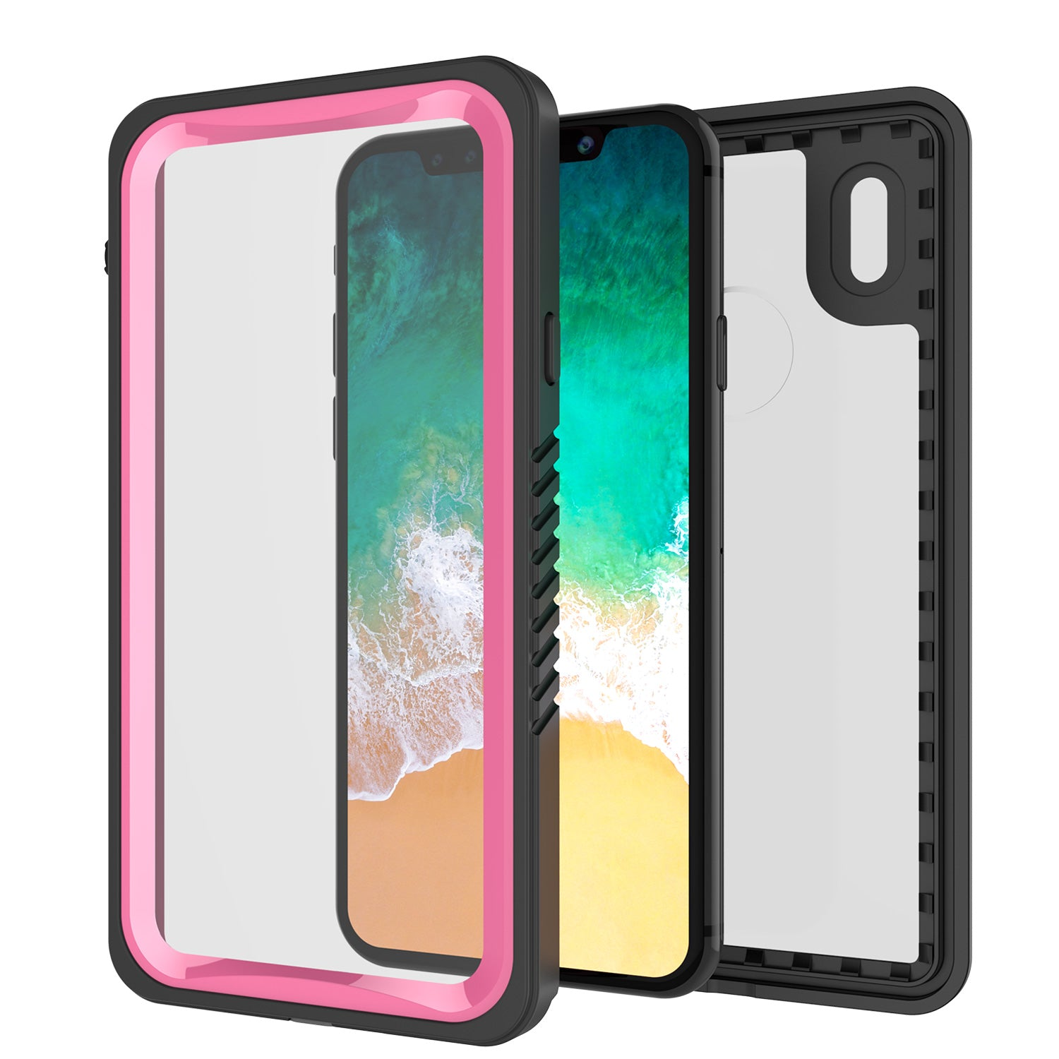 iPhone X Case, Punkcase [Extreme Series] [Slim Fit] [IP68 Certified] [Pink]