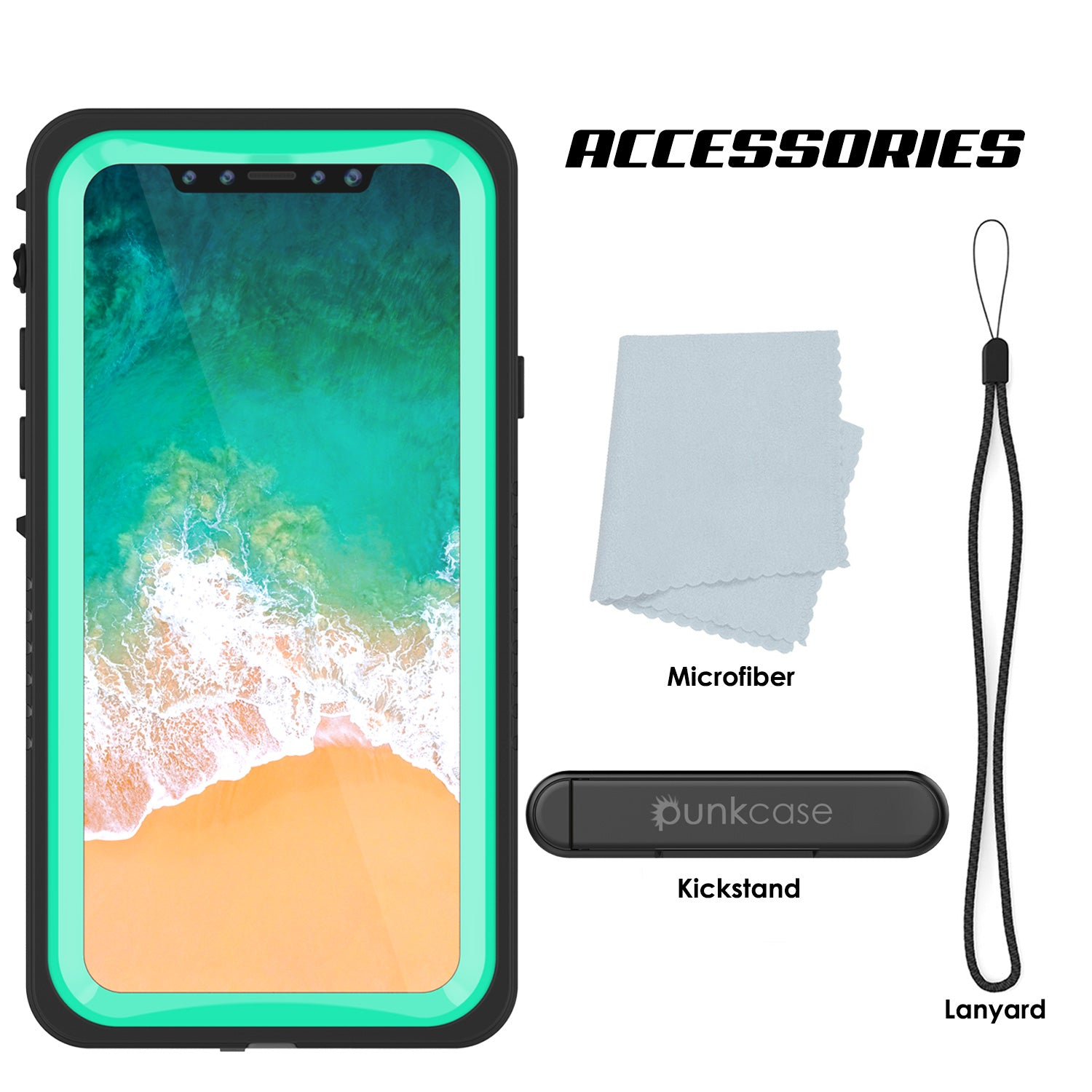 iPhone X Case, Punkcase [Extreme Series] [Slim Fit] [IP68 Certified] [Teal]