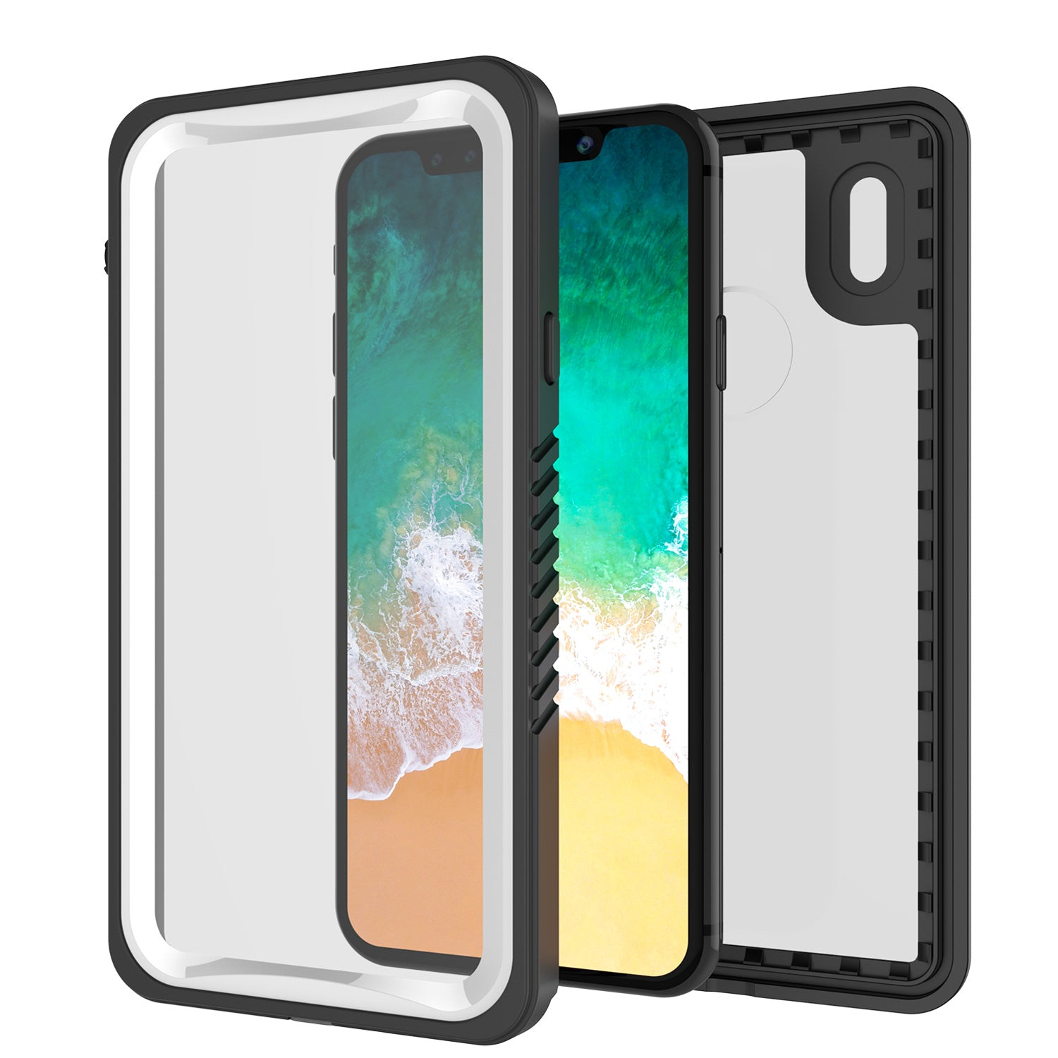 iPhone X Case, Punkcase Extreme Series | Slim Fit | IP68 Certified | Shockproof | Snowproof | Dirtproof  Armor Cover [White]