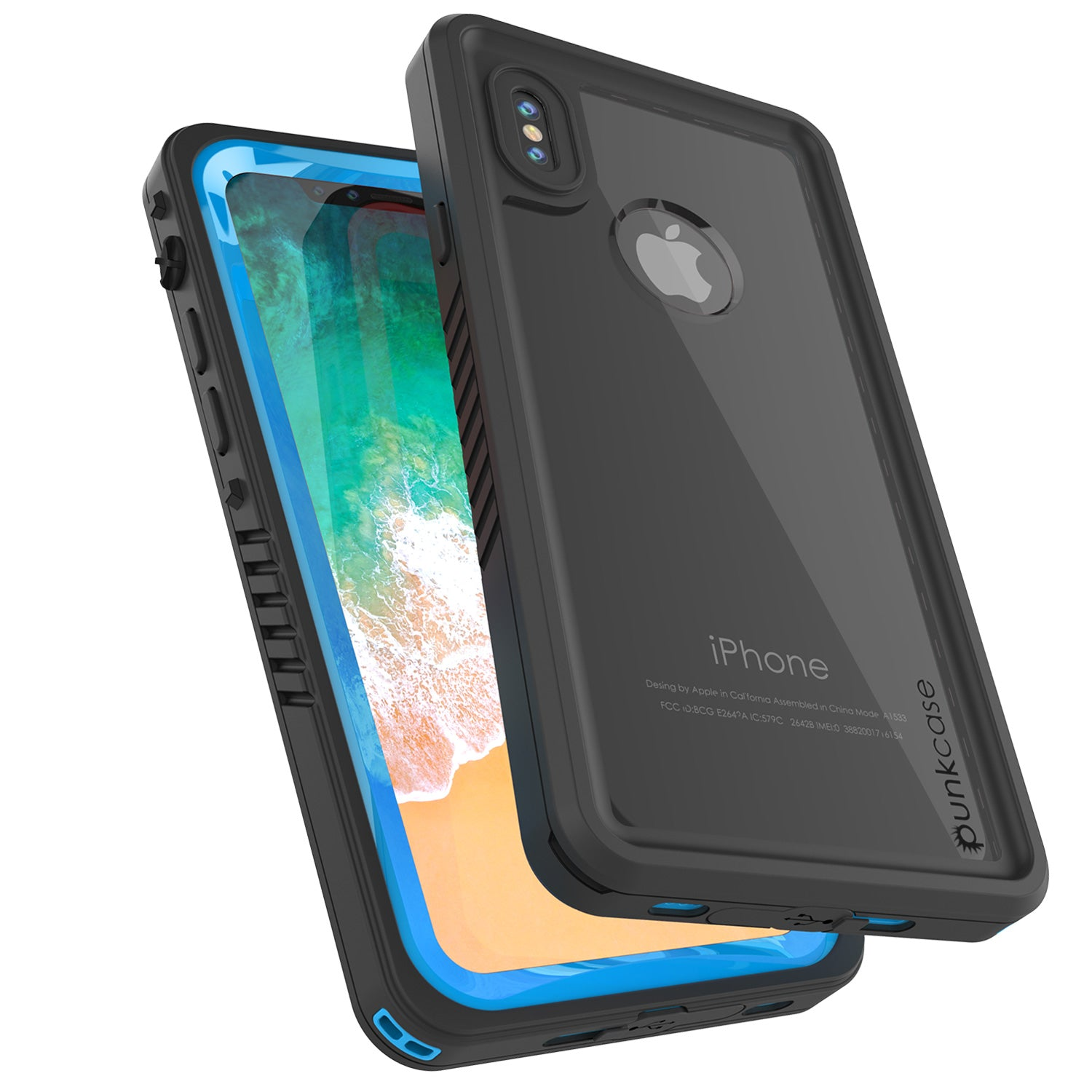 iPhone X Case, Punkcase [Extreme Series] [Slim Fit] [IP68 Certified] [Light Blue]