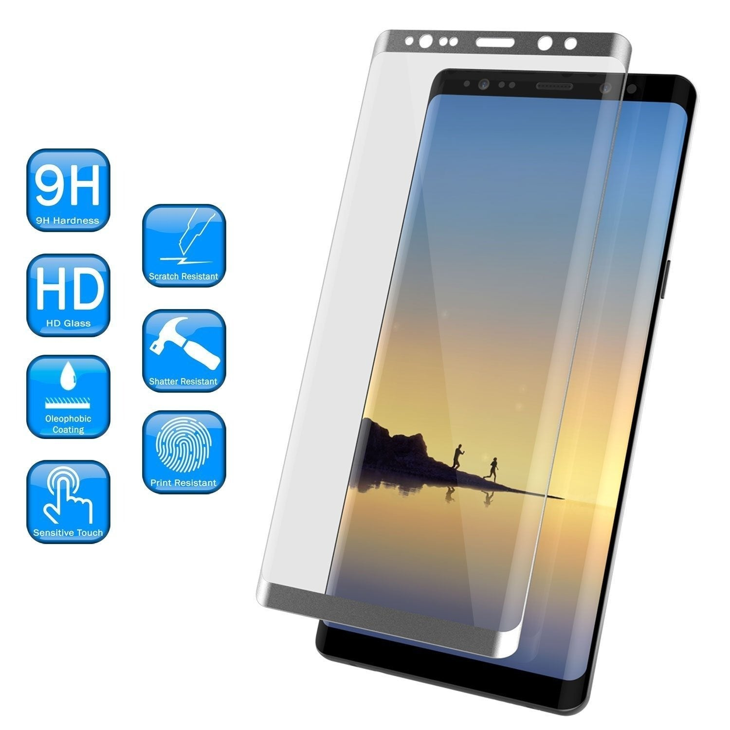 Galaxy Note 20 Black Punkcase Glass SHIELD Tempered Glass Screen Protector 0.33mm Thick 9H Glass
