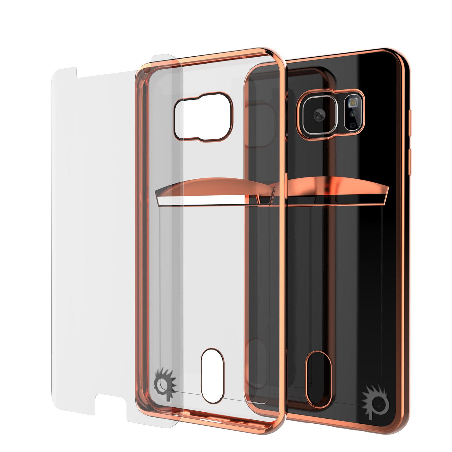 Galaxy S7 EDGE Case, PUNKCASE® LUCID Rose Gold Series | Card Slot | SHIELD Screen Protector