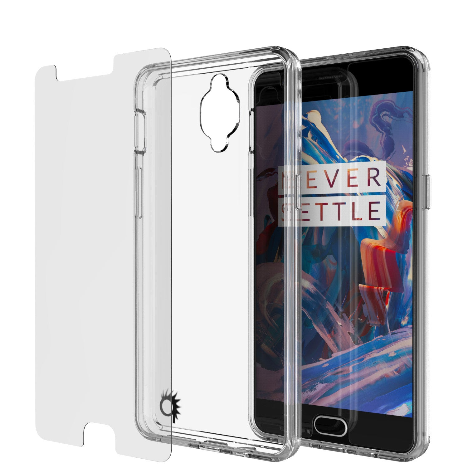 OnePlus 3 Case Punkcase® LUCID 2.0 Clear Series w/ SHIELD GLASS Lifetime Warranty Exchange