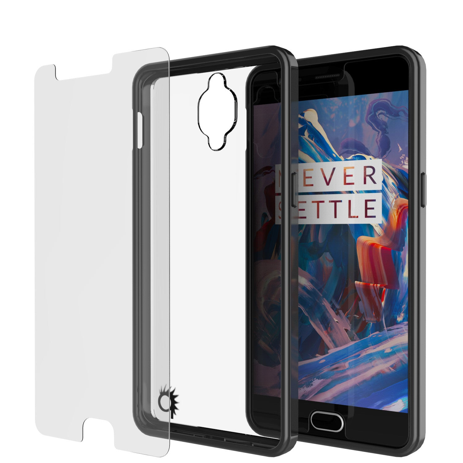 OnePlus 3 Case Punkcase® LUCID 2.0 Black Series w/ SHIELD GLASS Lifetime Warranty Exchange