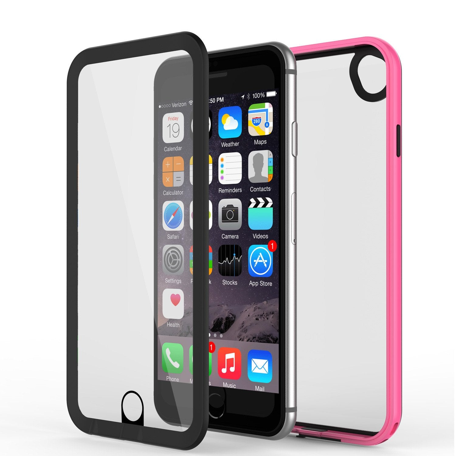 timeless design 8b9b0 6dbf2 Apple iPhone 8 Waterproof Case, PUNKcase CRYSTAL 2.0 Pink W/ Attached  Screen Protector | Warranty