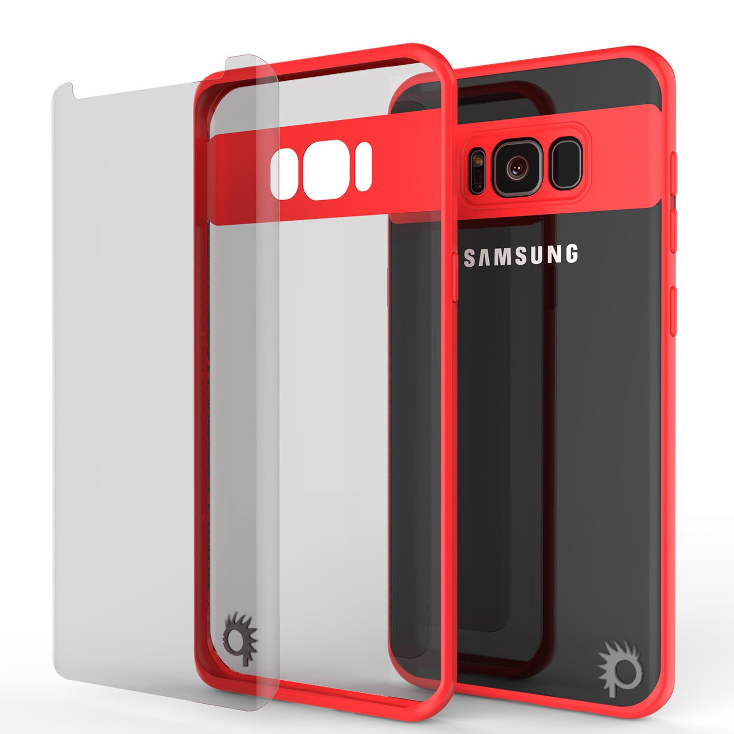 sports shoes 081d7 2f66d Galaxy S8 Case, Punkcase [MASK Series] [RED] Full Body Hybrid Dual Lay