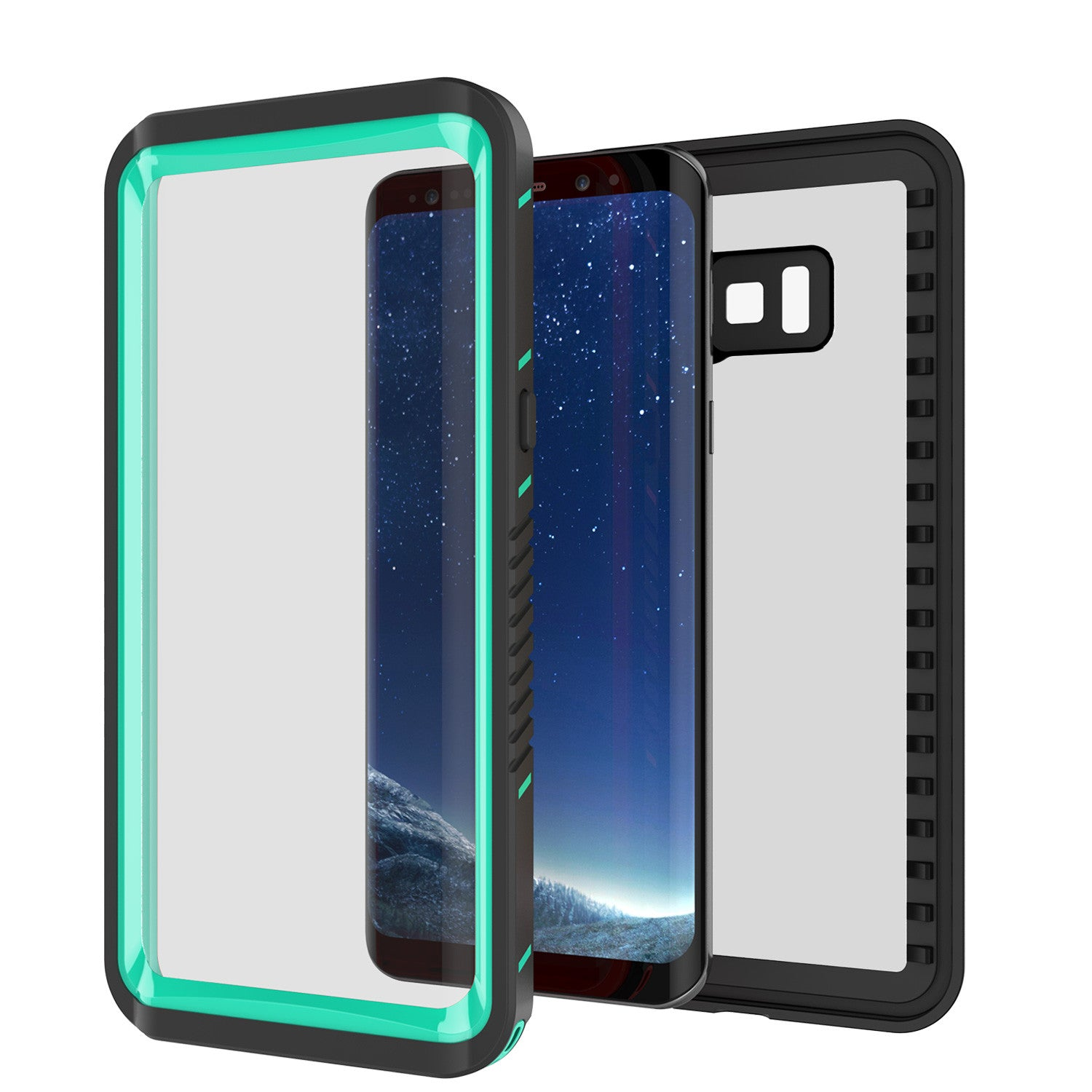Galaxy S8 Waterproof Case, Punkcase [Extreme Series] Slim Fit with Built In Screen Protector for Samsung Galaxy S8 [Teal]