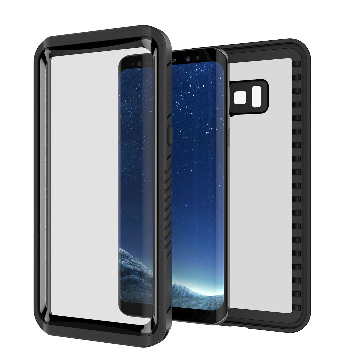 Galaxy S8 PLUS Waterproof Case, Punkcase [Extreme Series] [Slim Fit] [IP68 Certified] [Shockproof] [Snowproof] [Dirproof] Armor Cover W/ Built In Screen Protector for Samsung Galaxy S8+ [Black]