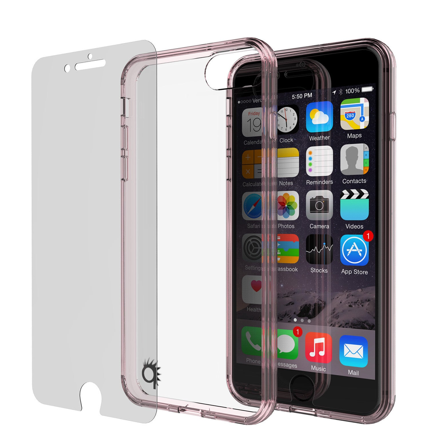 iPhone 7+ Plus Case Punkcase® LUCID 2.0 Crystal Pink Series w/ SHIELD Screen Protector | Ultra Fit