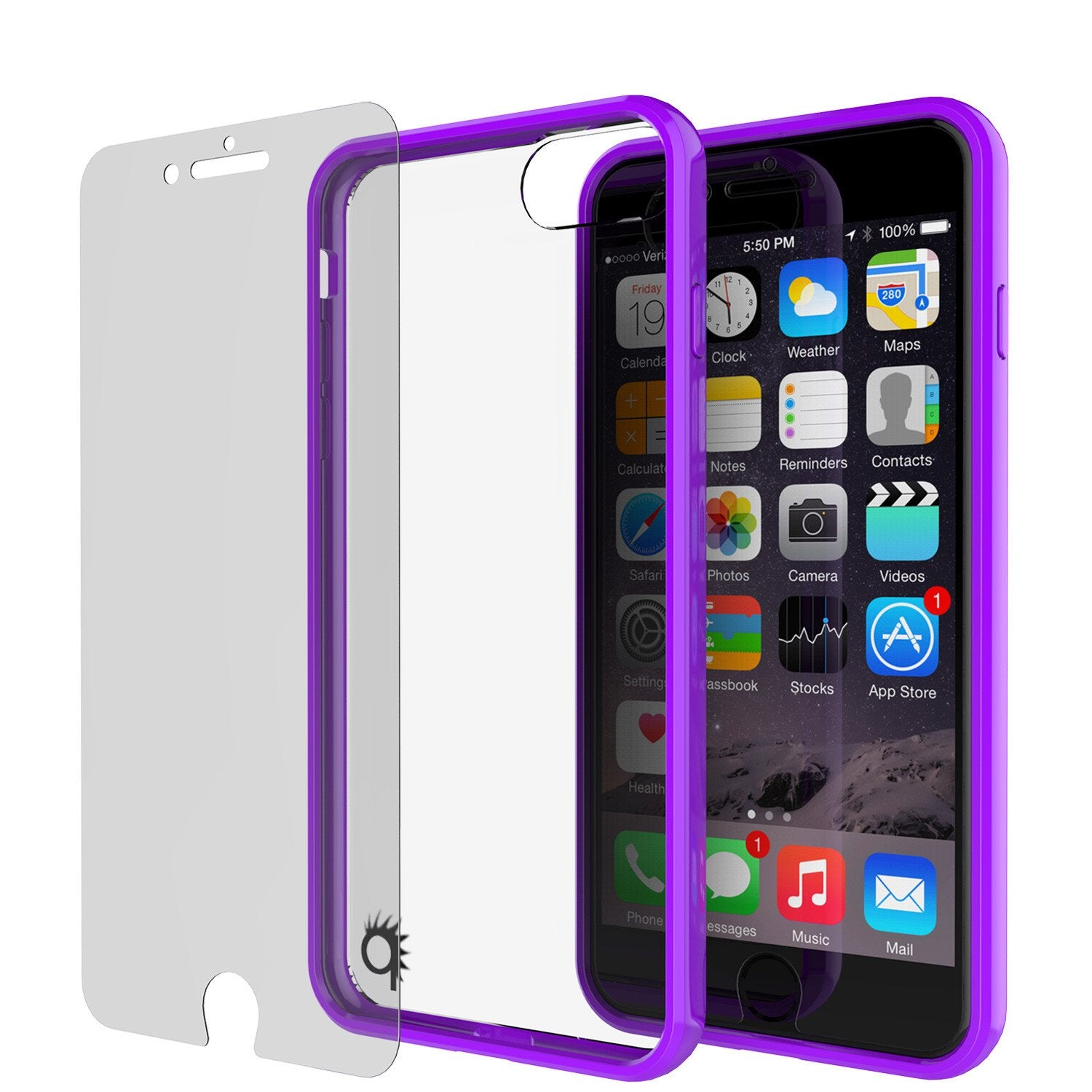 iPhone 8 Case Punkcase® LUCID 2.0 Purple Series w/ PUNK SHIELD Screen Protector | Ultra Fit
