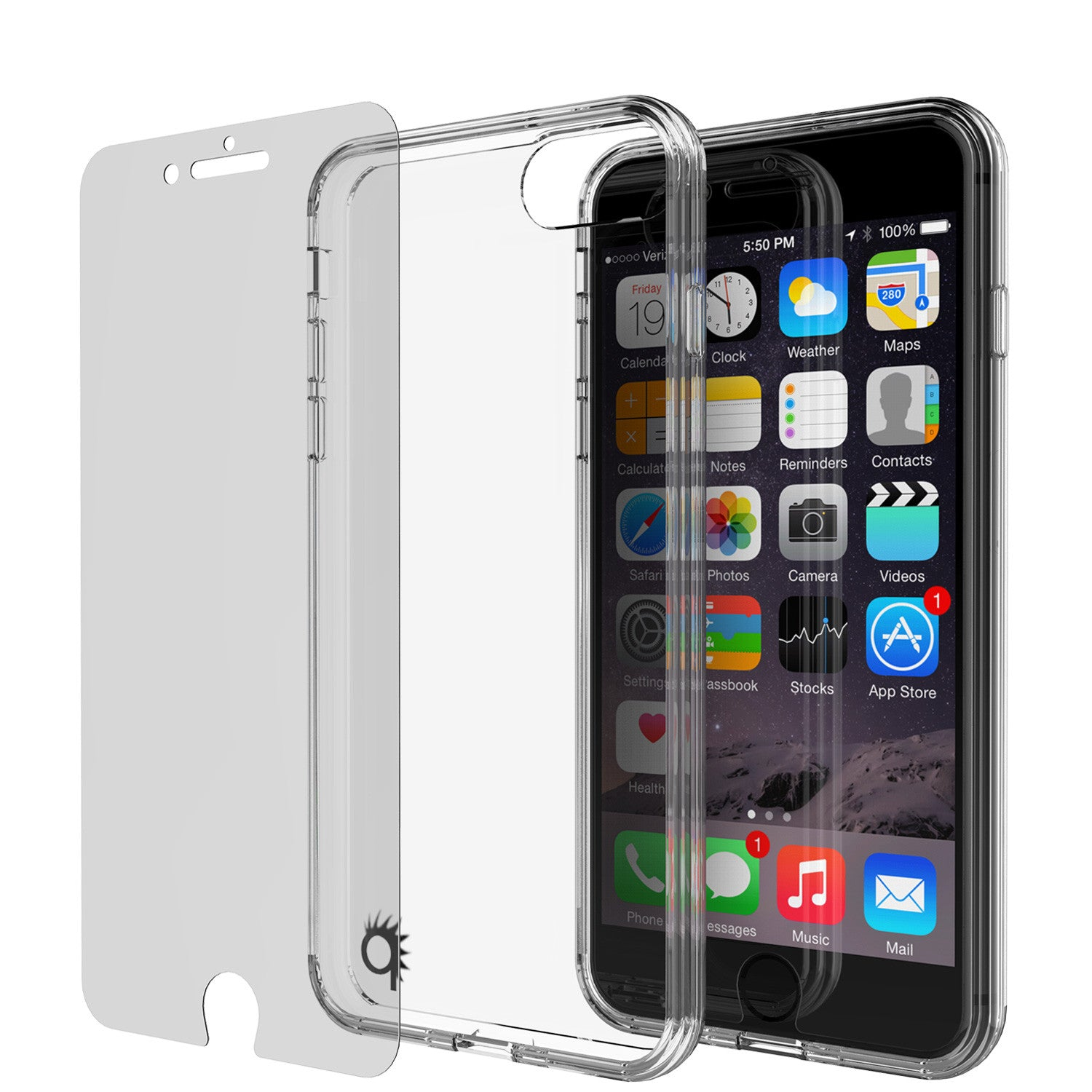 iPhone 7 Case Punkcase® LUCID 2.0 Clear Series Series w/ PUNK SHIELD Screen Protector | Ultra Fit