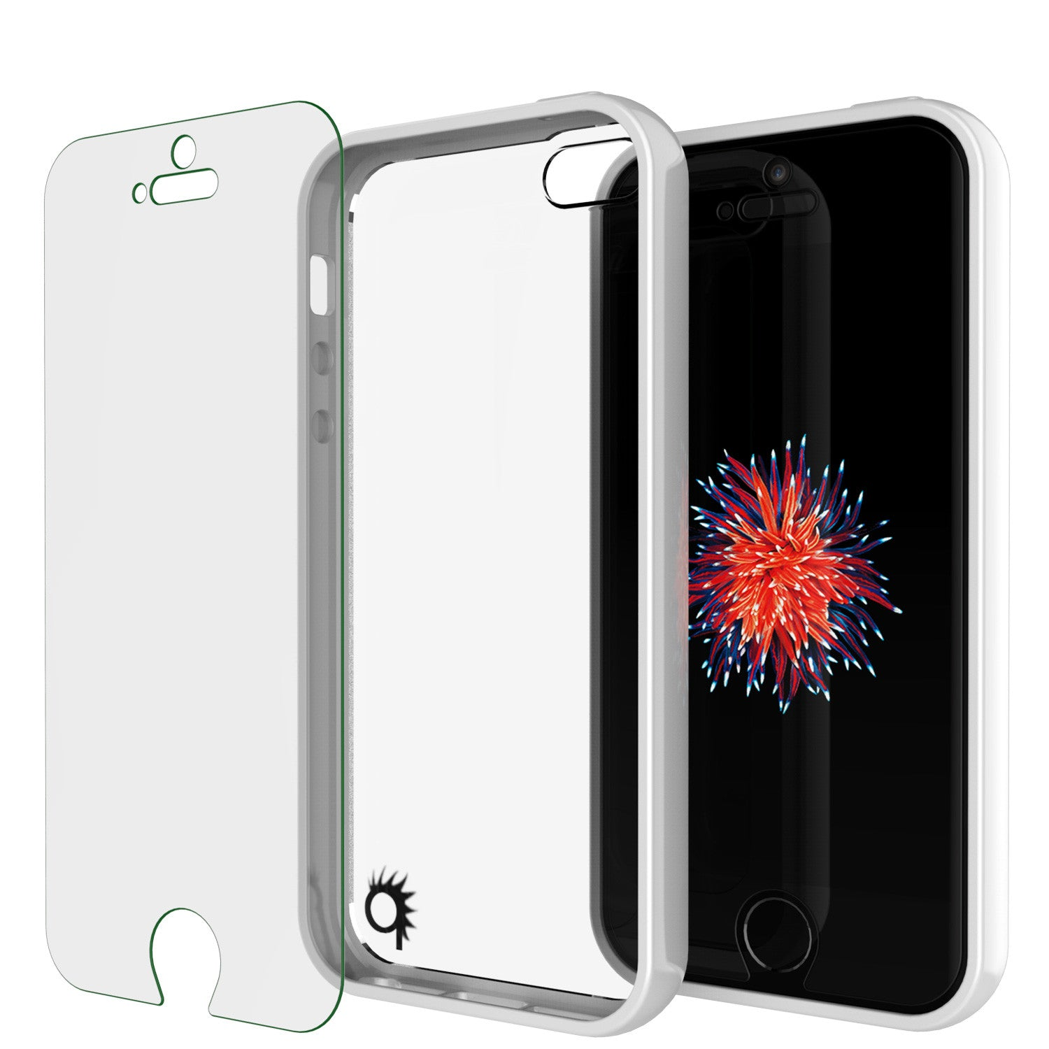 iPhone SE/5S/5 Case Punkcase® LUCID 2.0 White Series w/ PUNK SHIELD Screen Protector | Ultra Fit