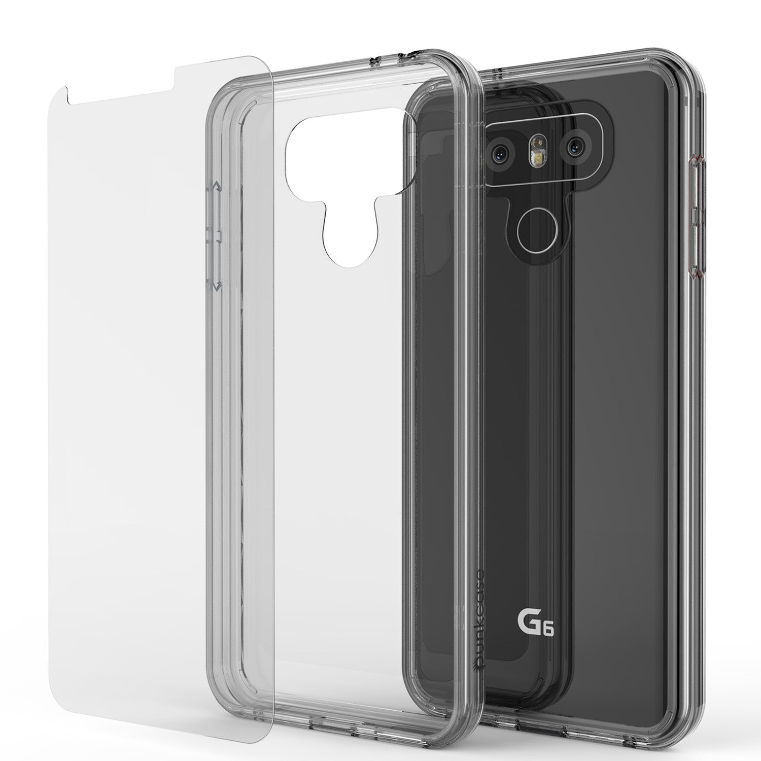 LG G6 Case Punkcase® LUCID 2.0 Clear Series w/ PUNK SHIELD Screen Protector | Ultra Fit