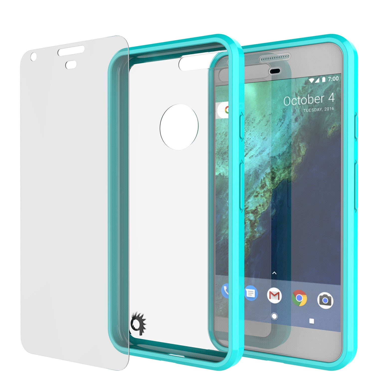 Google Pixel Case Punkcase® LUCID 2.0 Teal Series w/ PUNK SHIELD Glass Screen Protector | Ultra Fit