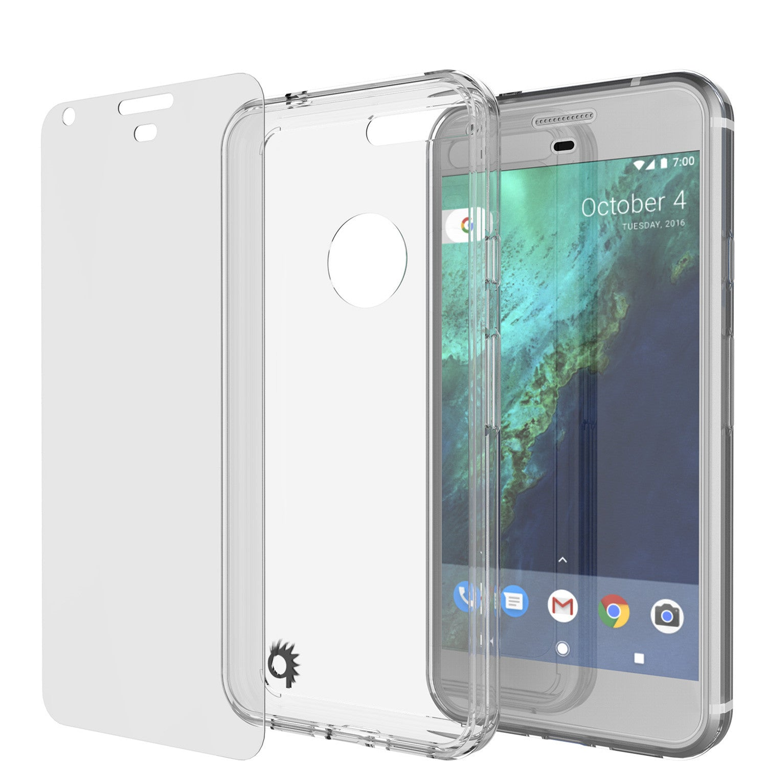Google Pixel XL Case Punkcase® LUCID 2.0 Clear Series w/ PUNK SHIELD Glass Screen Protector | Ultra Fit