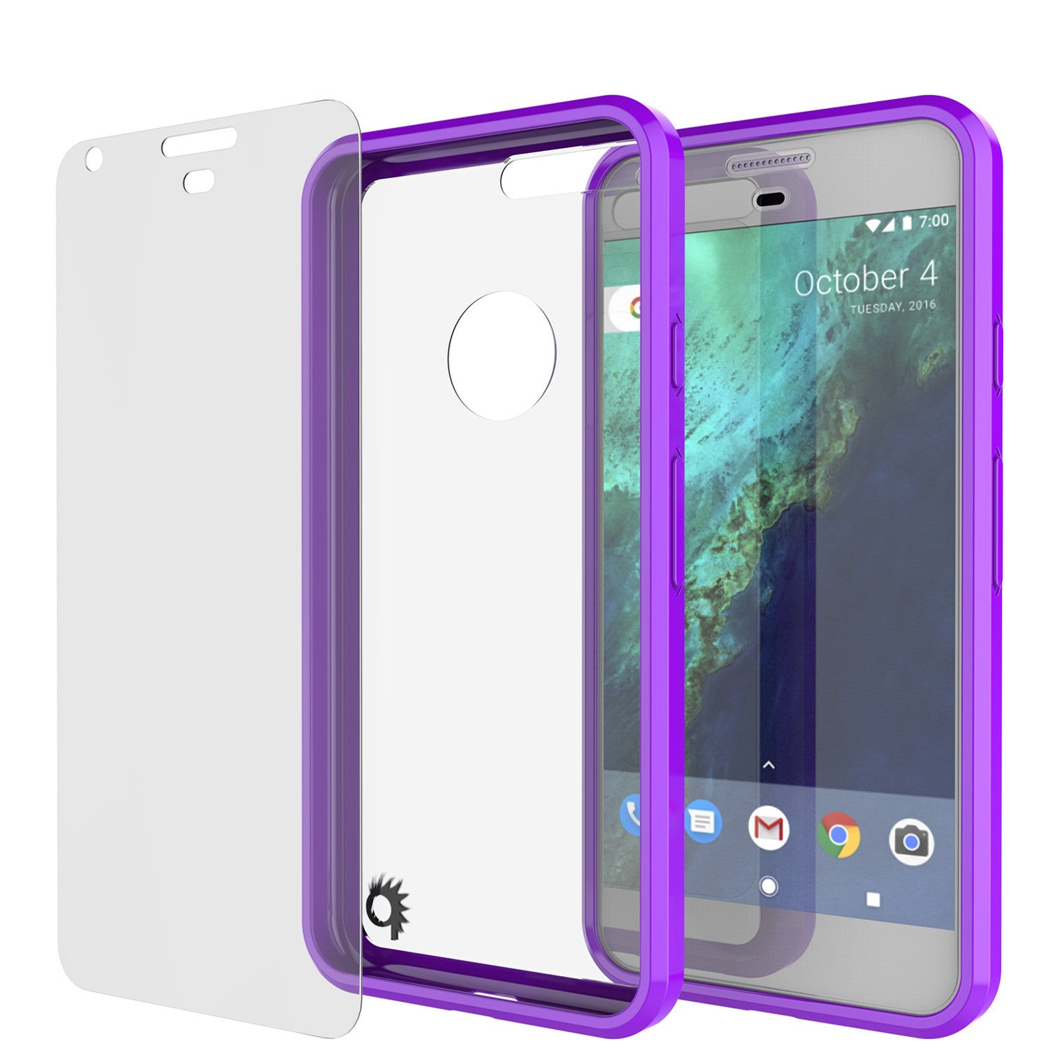 Google Pixel XL Case Punkcase® LUCID 2.0 Purple Series w/ PUNK SHIELD Glass Screen Protector | Ultra Fit