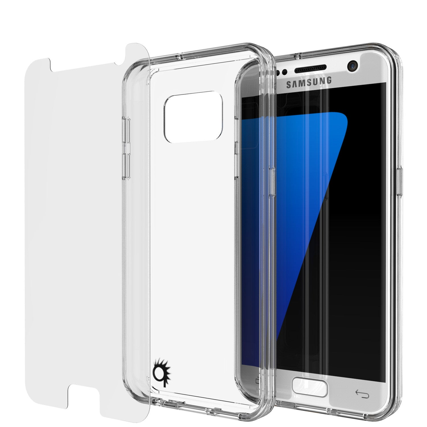 S7 Case Punkcase® LUCID 2.0 Clear Series w/ PUNK SHIELD Glass Screen Protector | Ultra Fit