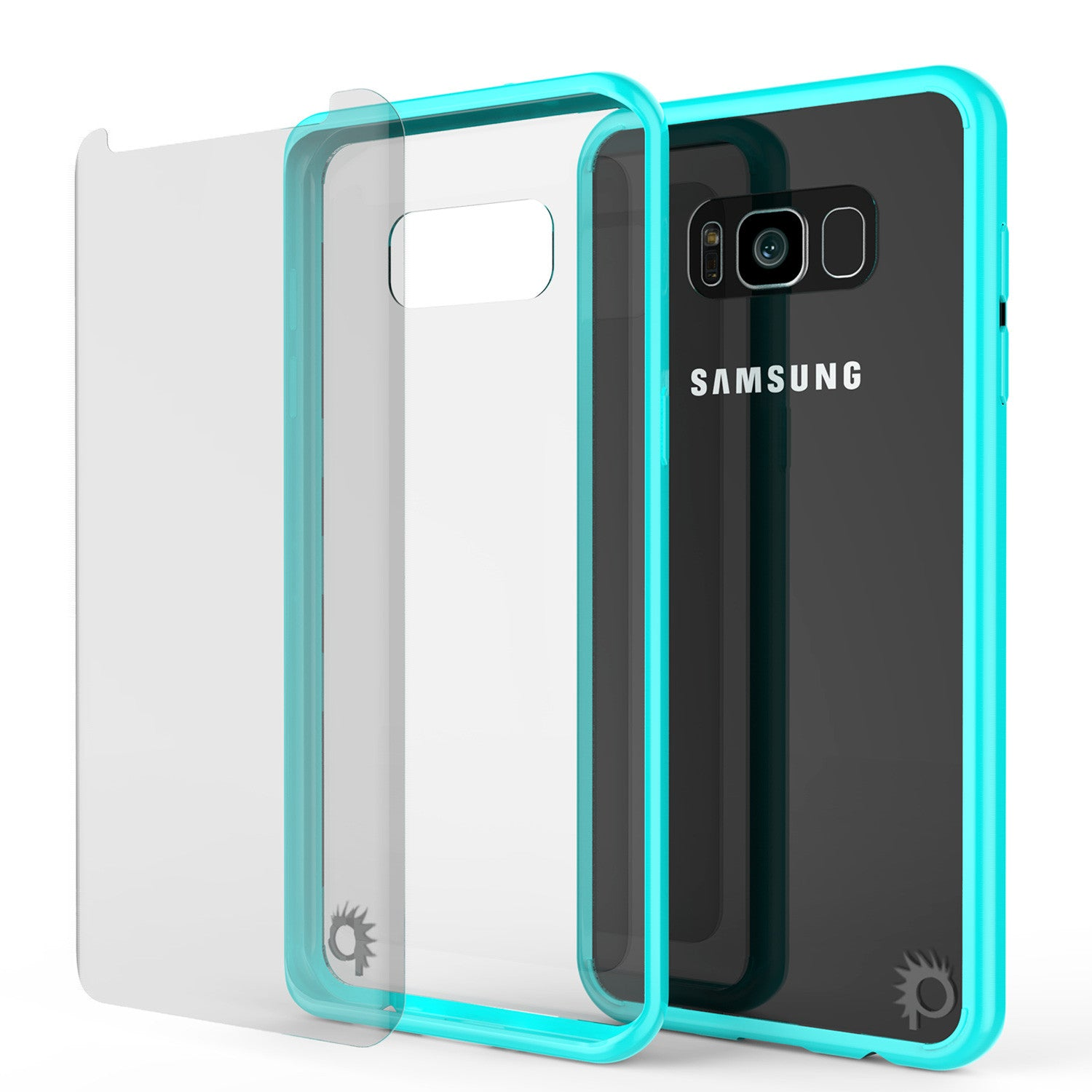 S8 Case Punkcase® LUCID 2.0 Teal Series w/ PUNK SHIELD Screen Protector | Ultra Fit