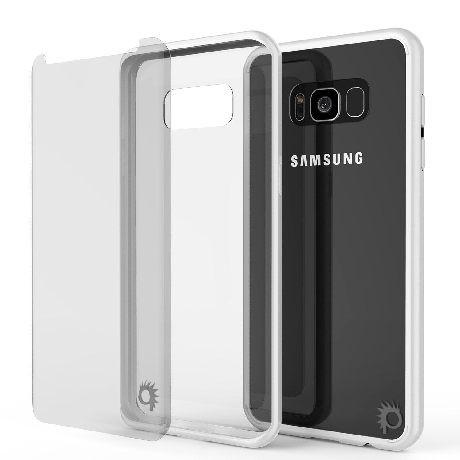S8 Case Punkcase® LUCID 2.0 White Series w/ PUNK SHIELD Screen Protector | Ultra Fit