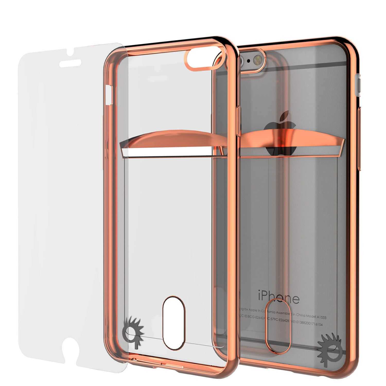 iPhone 6s+ Plus/6+ Plus Case, PUNKCASE® LUCID Rose Gold Series | Card Slot | SHIELD Screen Protector