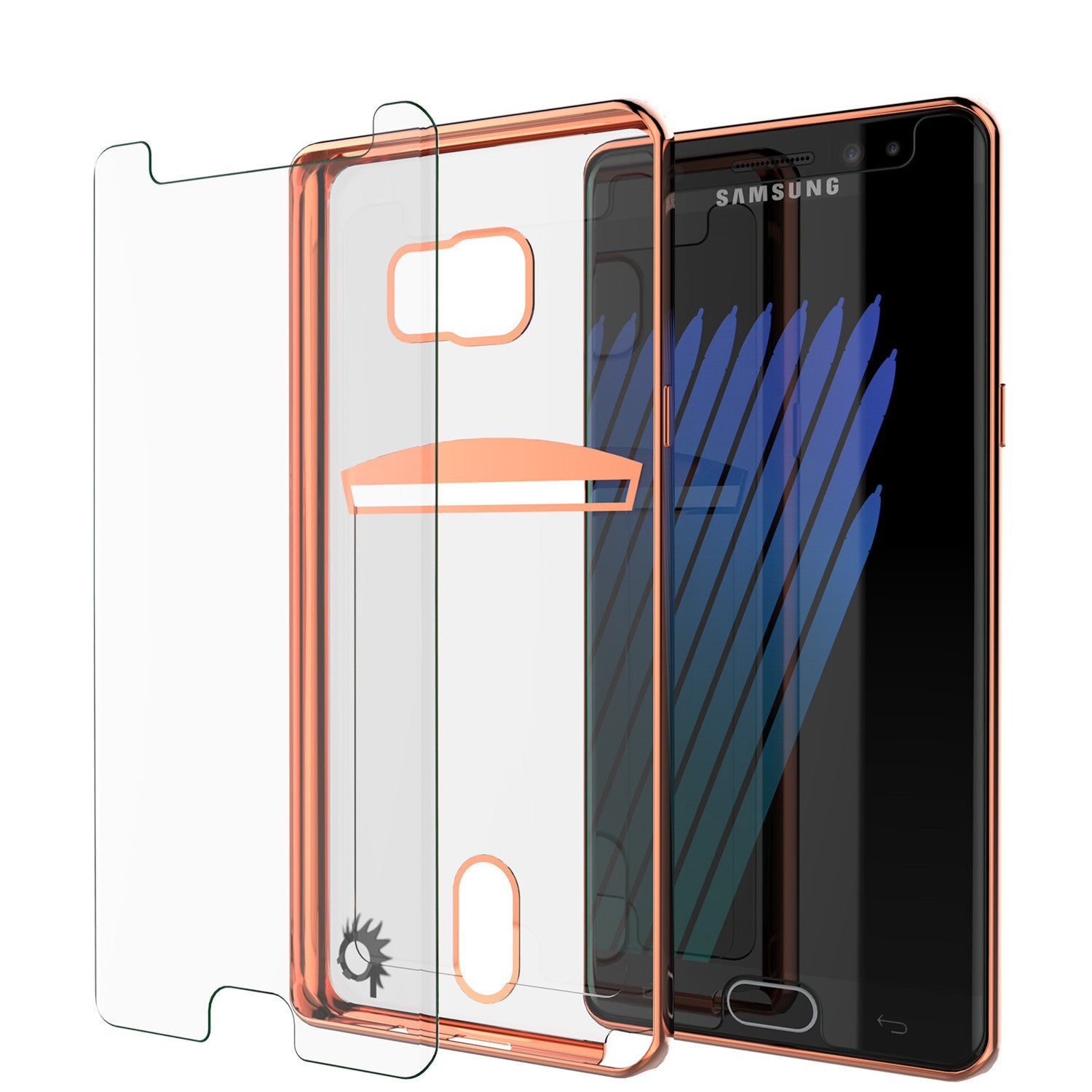 Galaxy Note 7 Case, PUNKCASE® LUCID Rose Gold Series | Card Slot | SHIELD Screen Protector